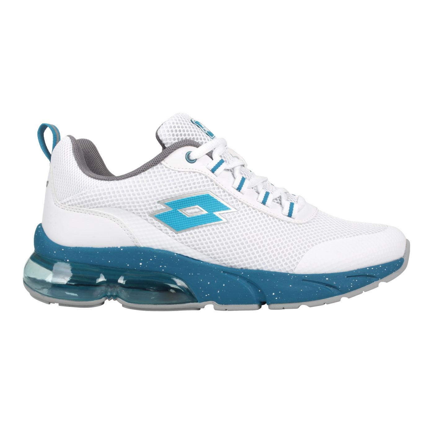 LOTTO 男款氣墊跑鞋 LT1AMR3026 - 白藍綠
