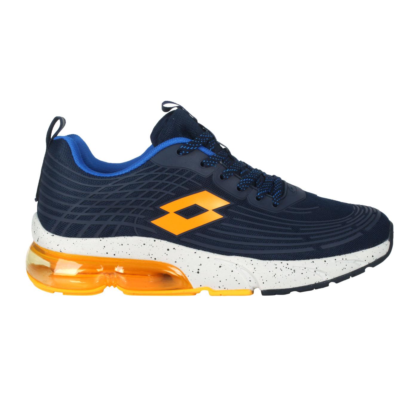 LOTTO 男款氣墊樂跑KPU運動鞋 LT1AMR3106 - 丈青藍黃