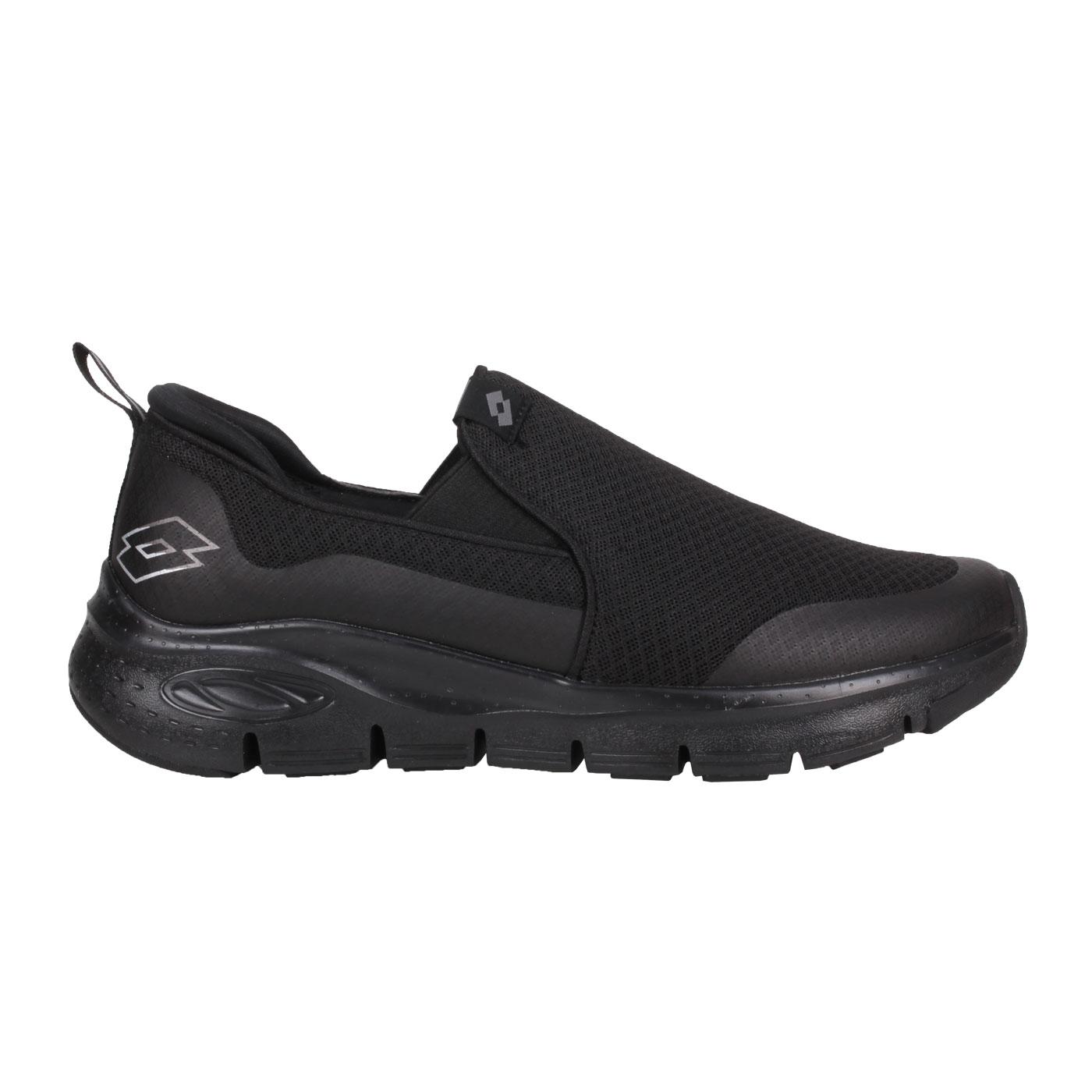 LOTTO 男款透氣健步鞋 LT1AMR3520 - 黑銀