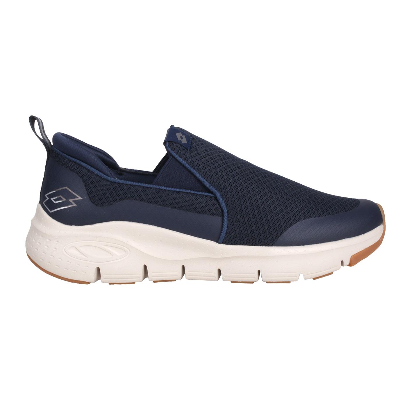 LOTTO 男款透氣健步鞋 LT1AMR3526 - 丈青銀