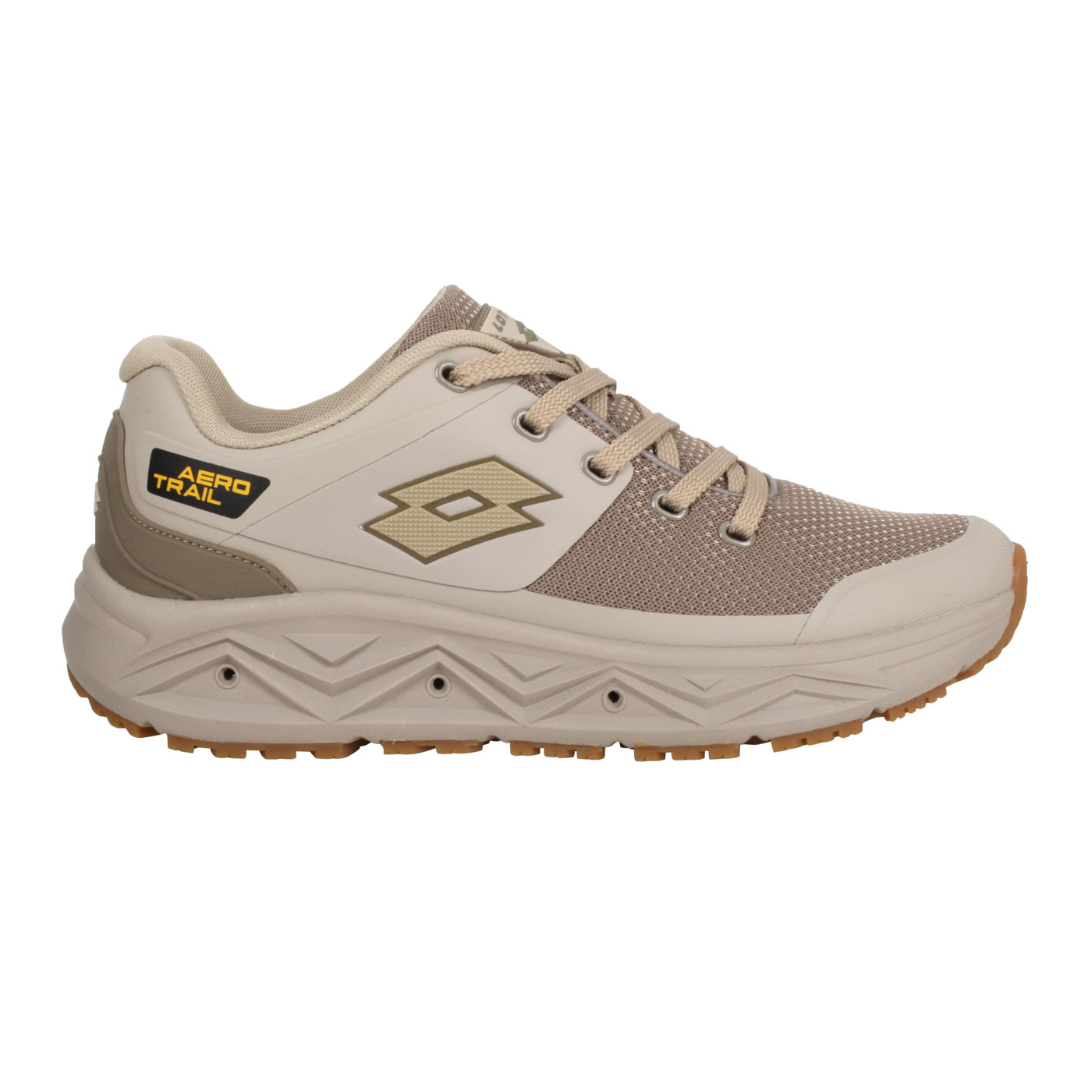 LOTTO 男款透氣越野跑鞋 LT1AMR3601 - 棕黃
