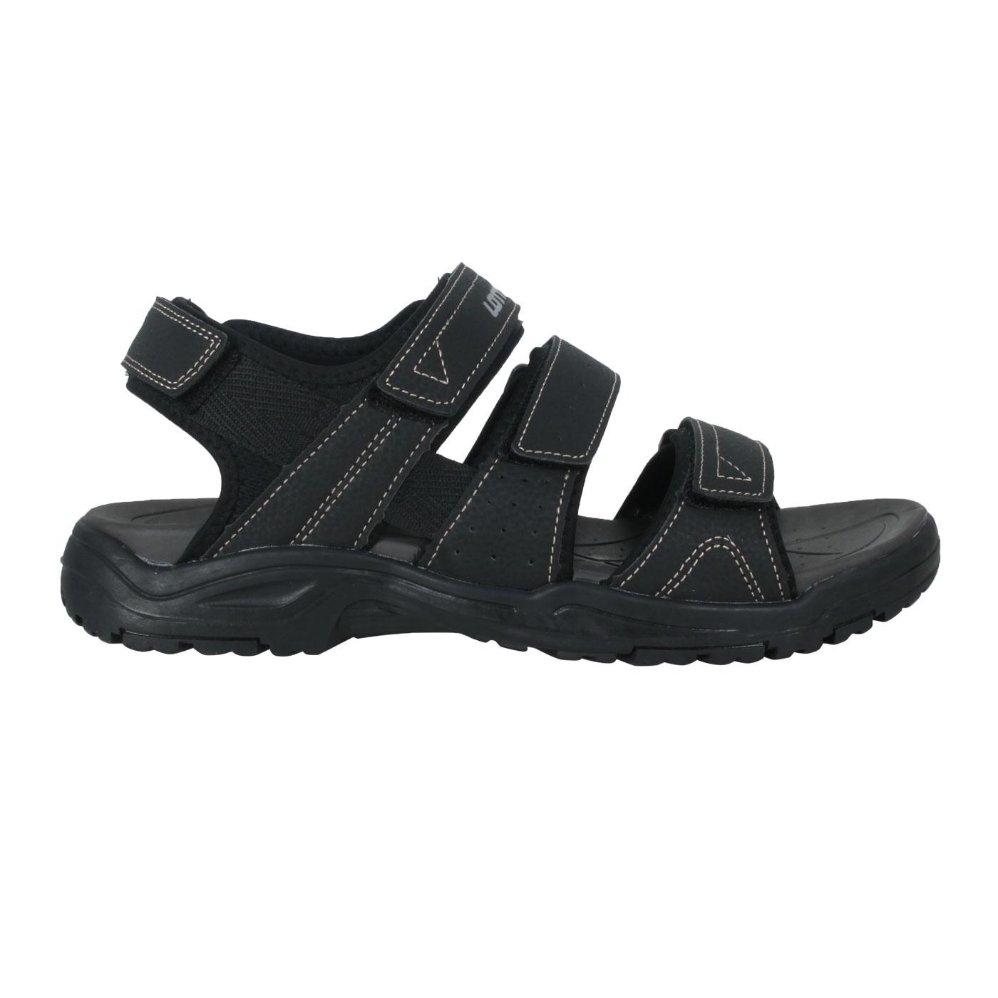 LOTTO 男款運動涼鞋 LT1AMS3350 - 黑銀