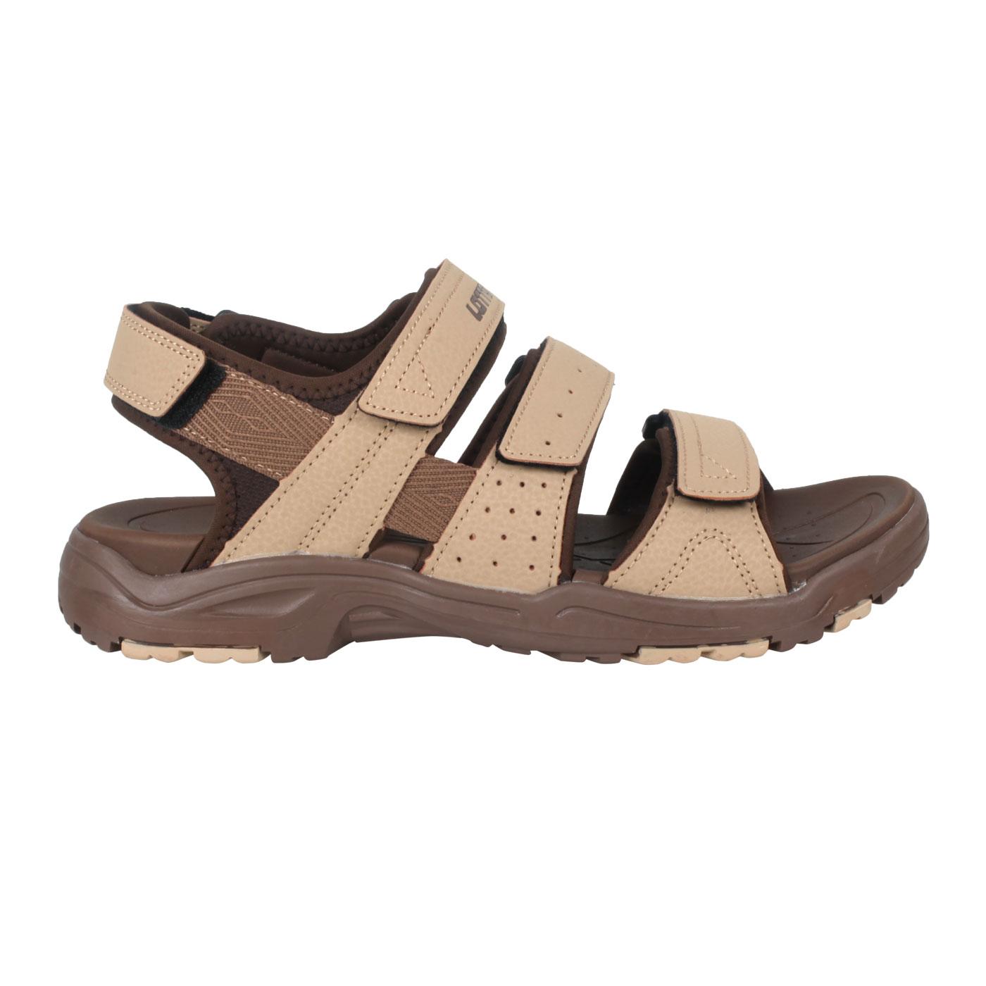 LOTTO 男款運動涼鞋 LT1AMS3351 - 淺棕深咖啡