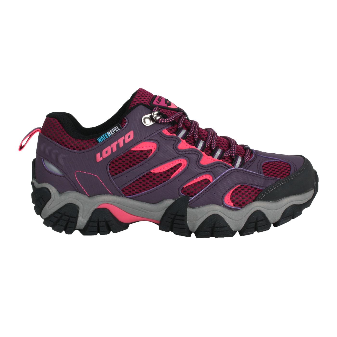 LOTTO 女款防水登山踏青鞋 LT1AWO3807 - 紫紅