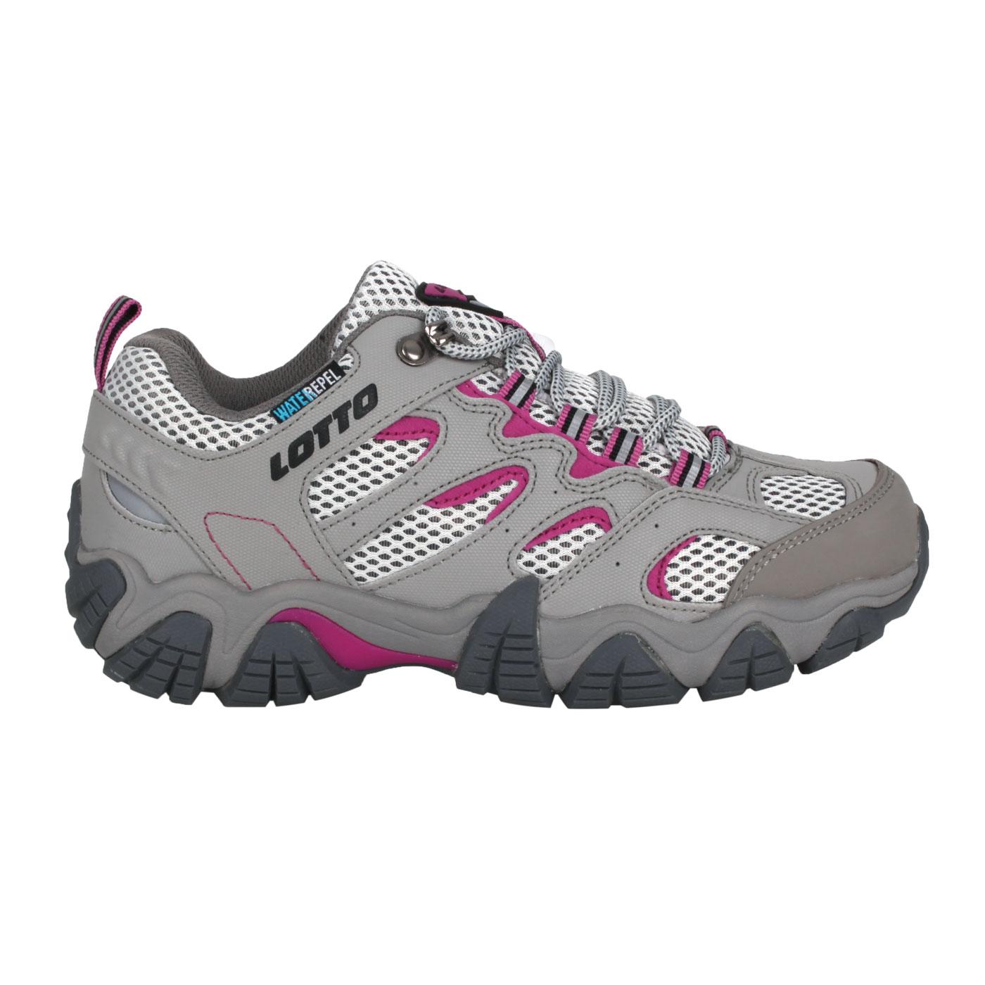 LOTTO 女款防水登山踏青鞋 LT1AWO3808 - 灰紫