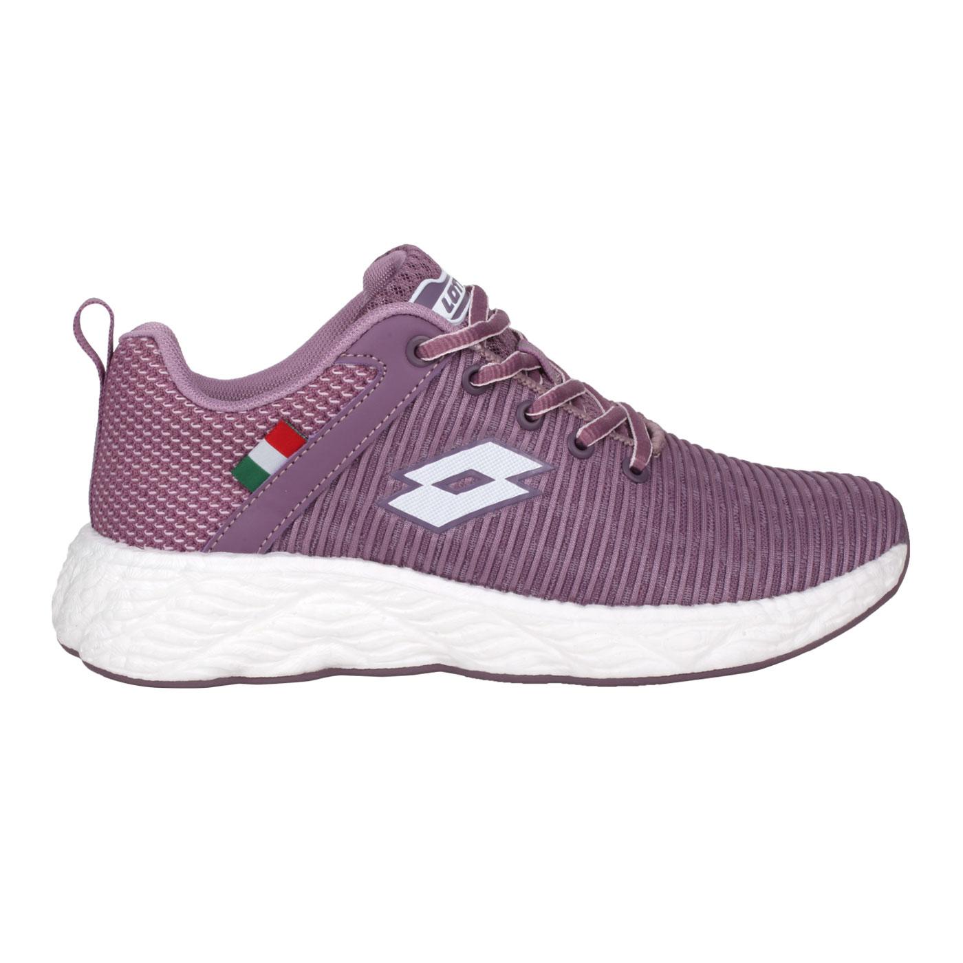 LOTTO 女款創跑鞋 LT1AWR3517 - 葡萄紫白