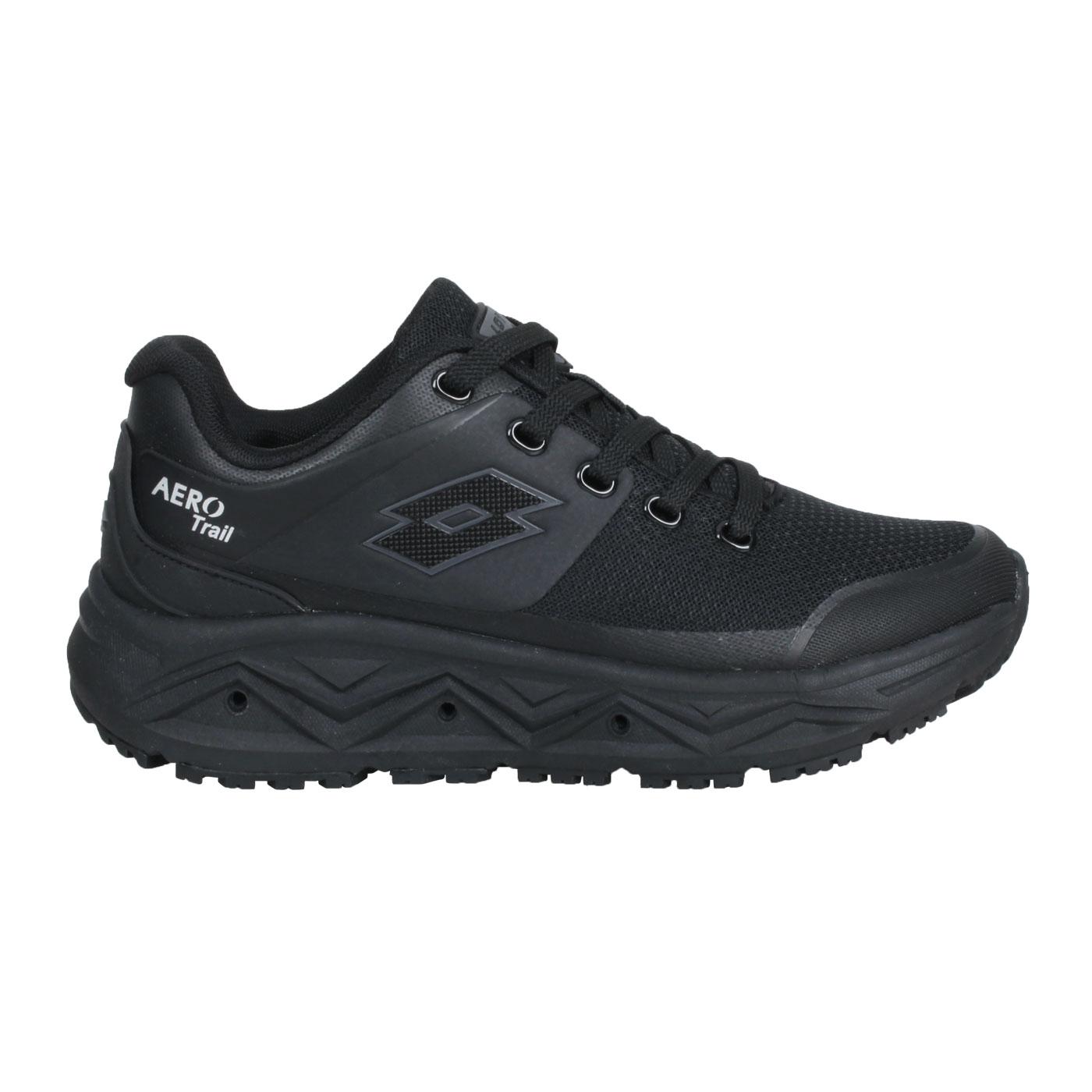 LOTTO 女款透氣越野跑鞋 LT1AWR3780 - 黑白