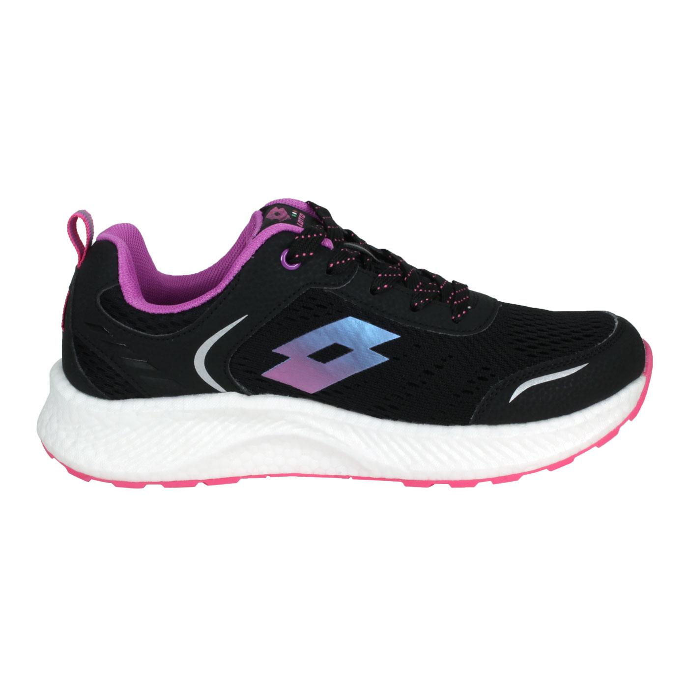 LOTTO 女款創跑鞋 LT1AWR3820 - 黑紫