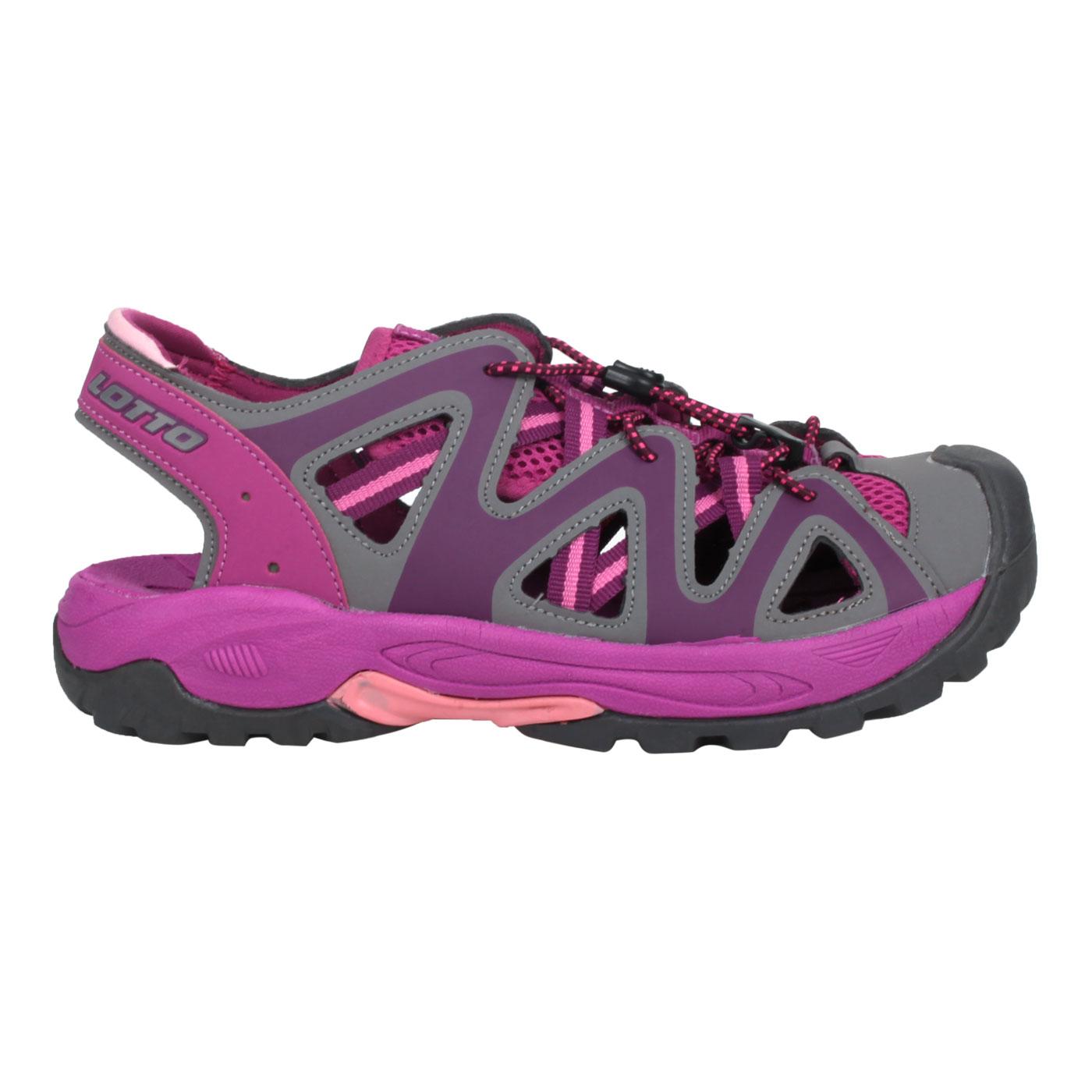 LOTTO 排水護趾涼鞋 LT1AWS3257 - 灰紫