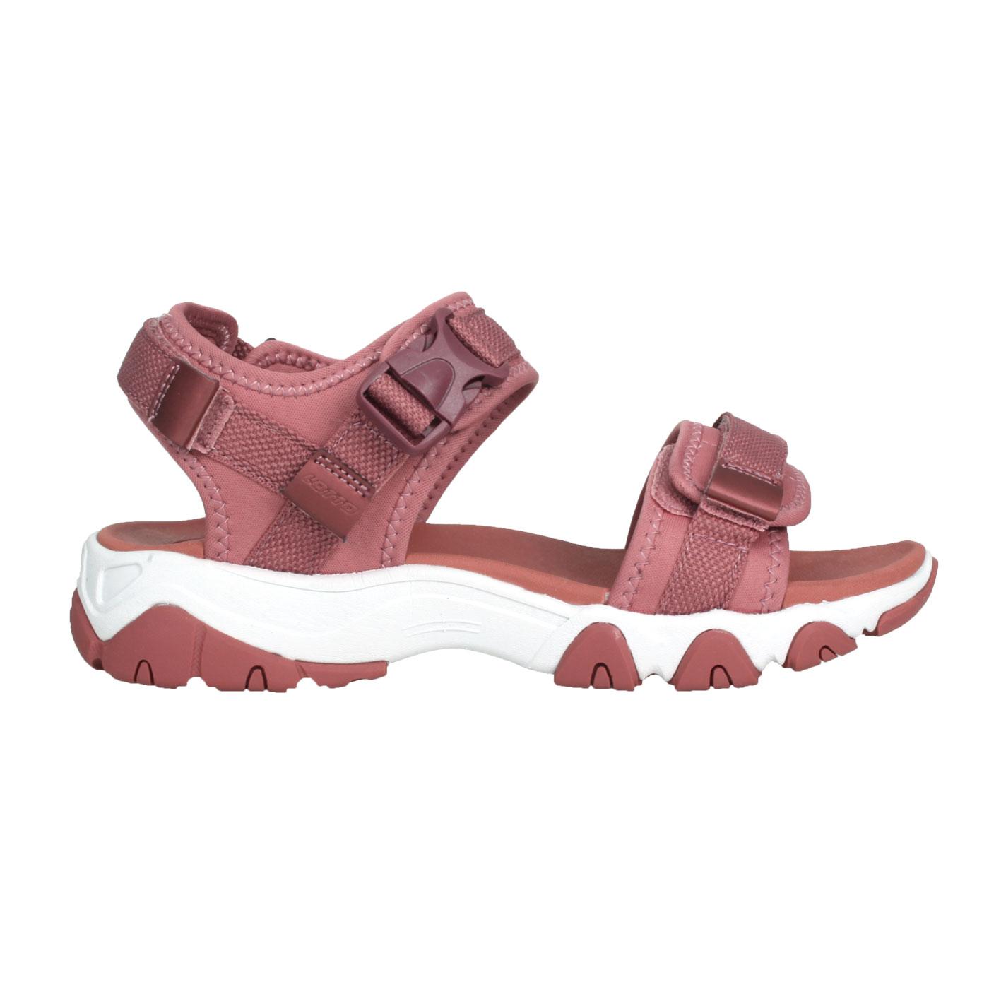 LOTTO 美型厚底一字涼鞋 LT1AWS3302 - 荳蔻粉