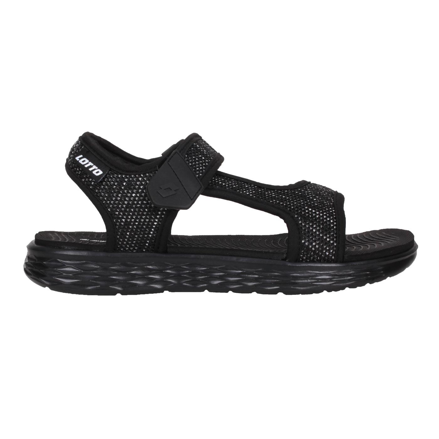 LOTTO 女款輕量涼鞋 LT1AWS3370 - 黑白