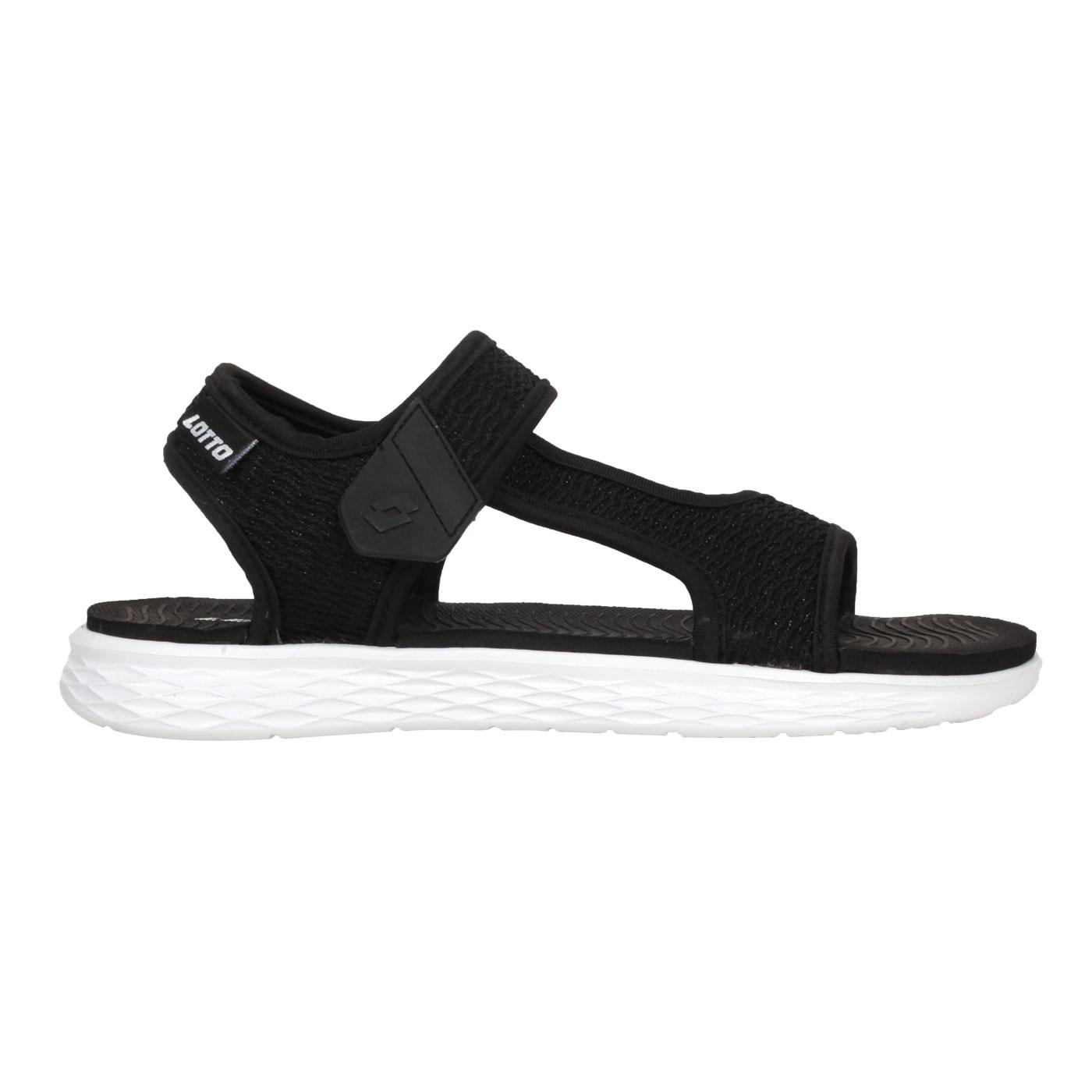 LOTTO 女款輕量涼鞋 LT1AWS3371 - 黑白