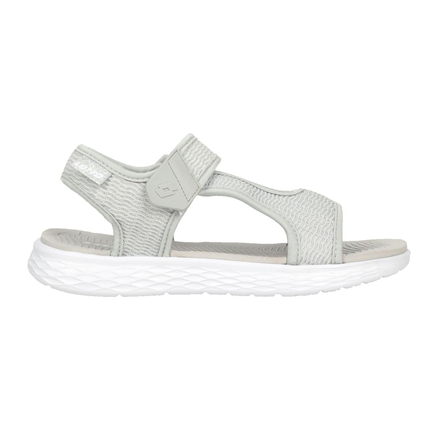 LOTTO 女款輕量涼鞋 LT1AWS3379 - 銀白