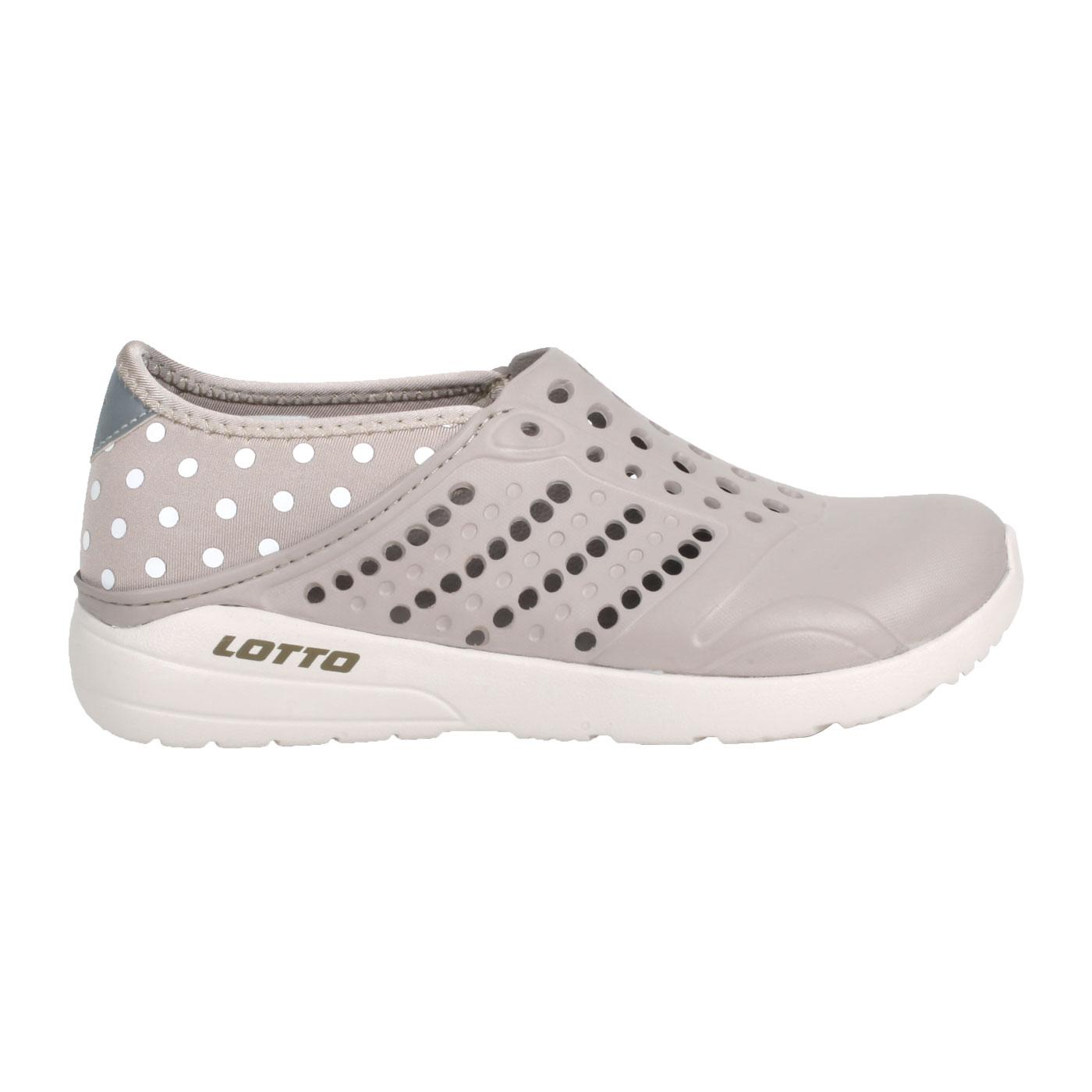 LOTTO 粉點洞洞鞋 LT1AWS3681 - 奶茶白