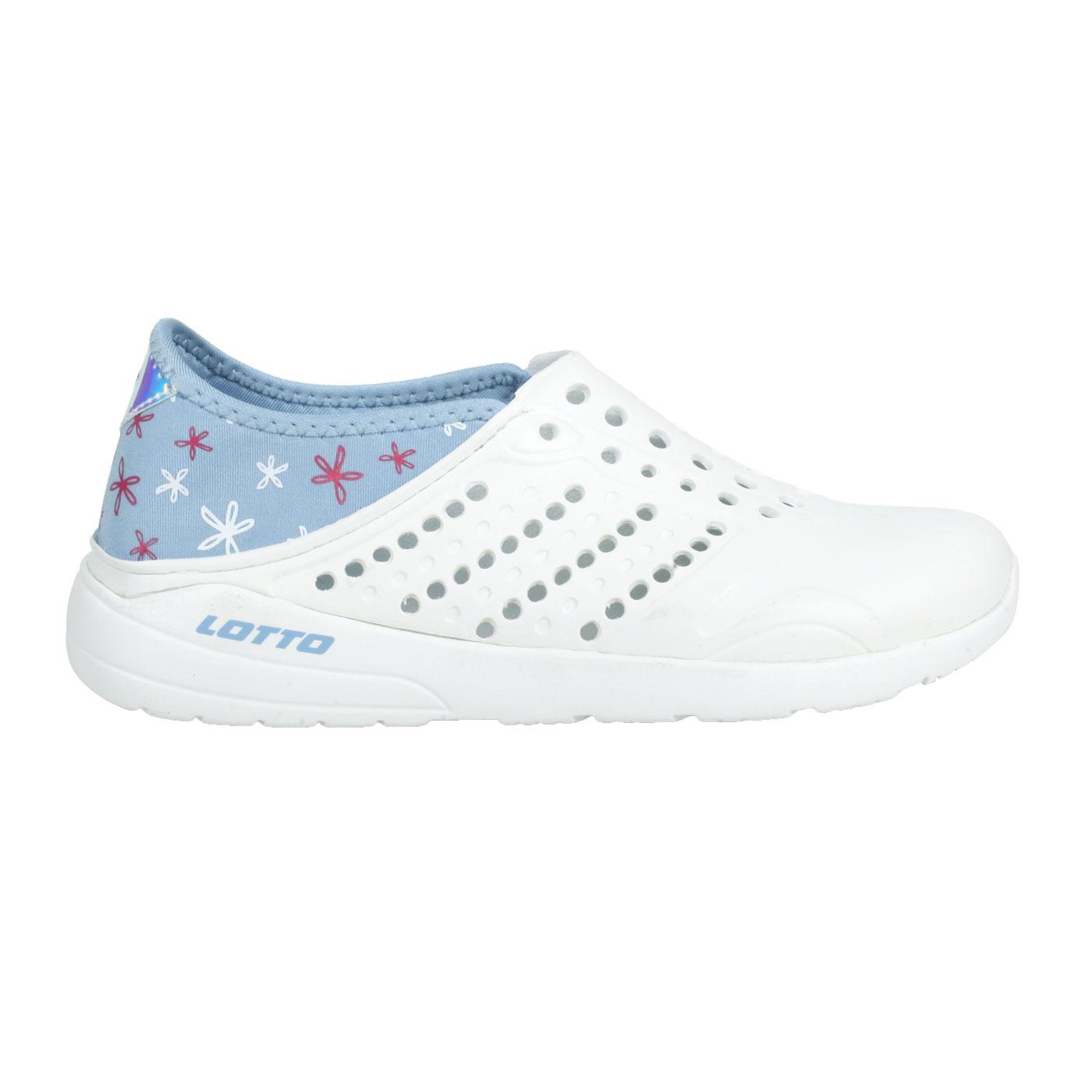 LOTTO 粉點洞洞鞋 LT1AWS3686 - 白藍