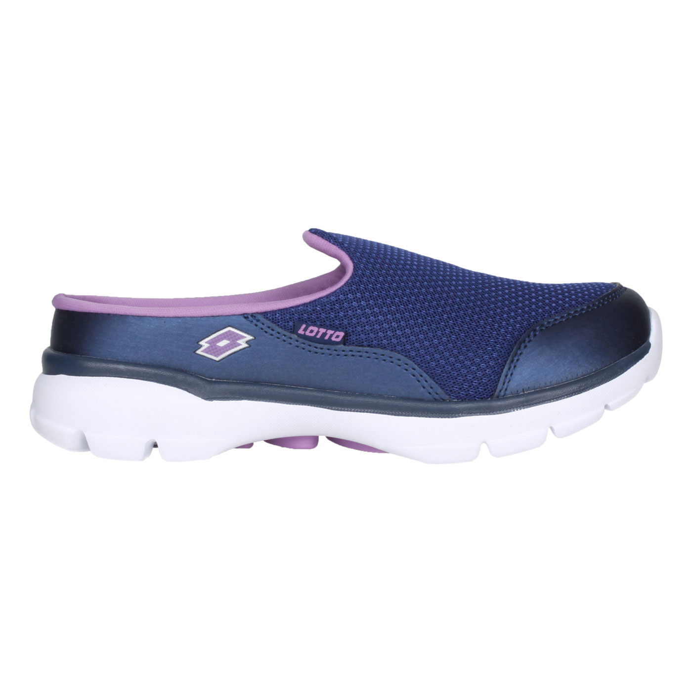 LOTTO 女款EASY WEAR穆勒健走鞋 LT1AWX3706 - 深藍紫