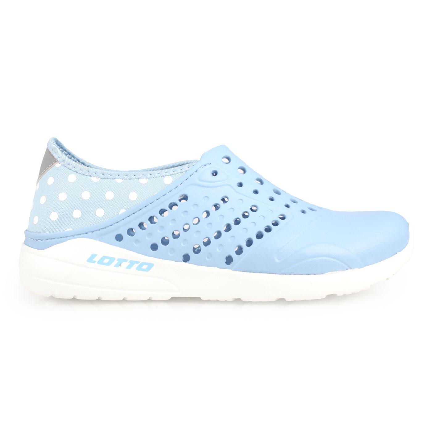 LOTTO 女款波點洞洞鞋 LT9AWS0360 - 水藍白