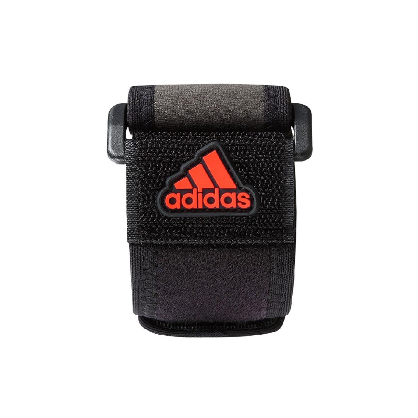 ADIDAS護具 特定-運動肘束帶 MB0221 - 黑橘