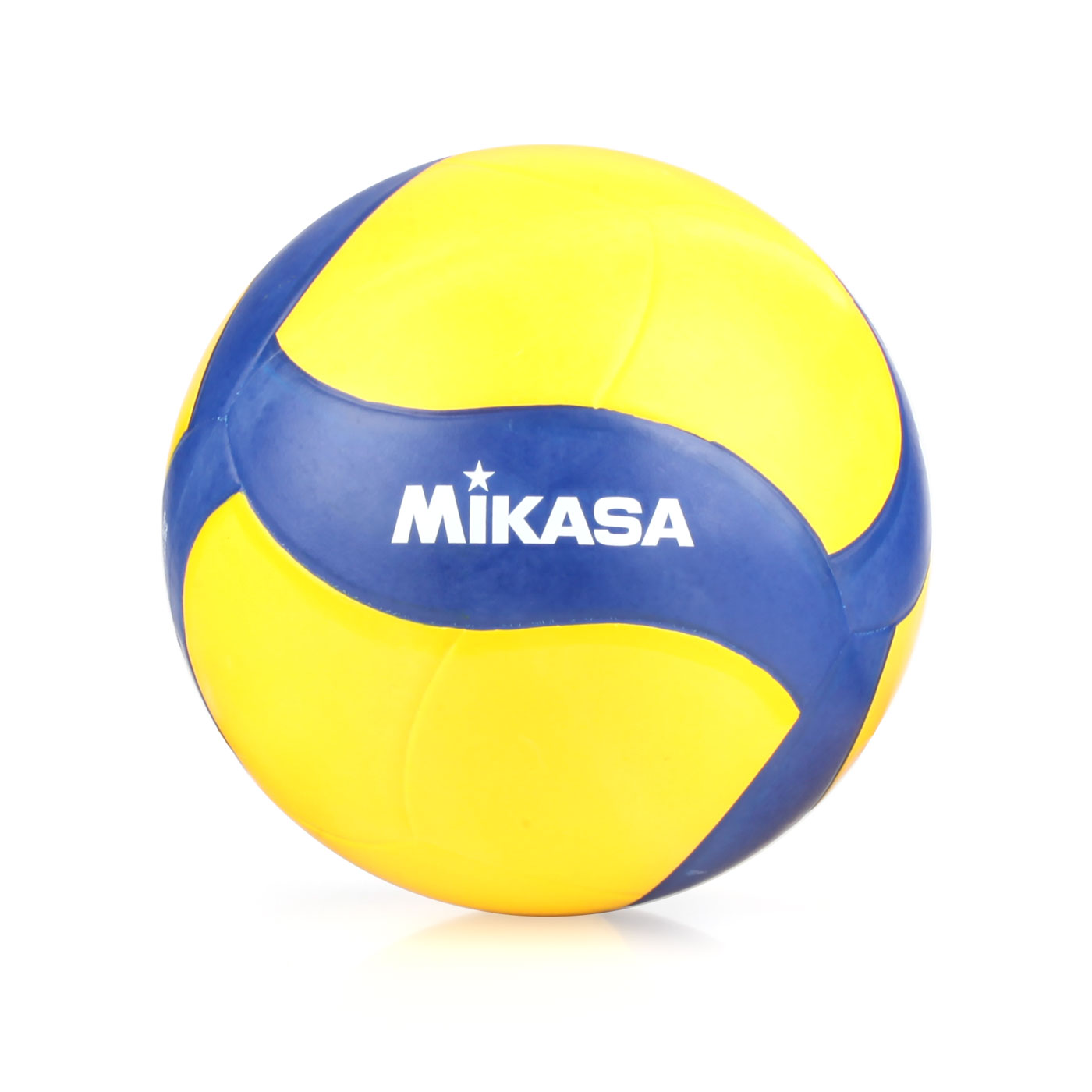 MIKASA 螺旋形橡膠排球 MKV020W - 黃深藍白