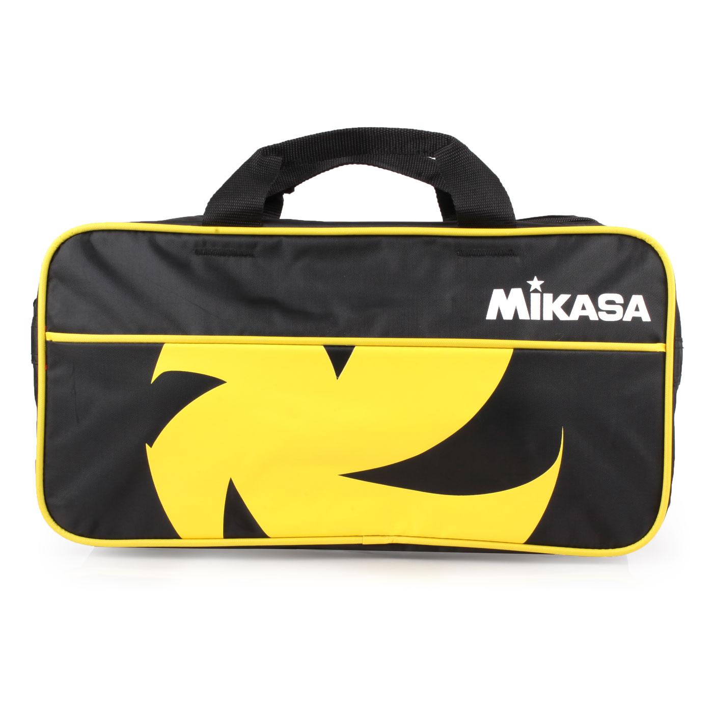 MIKASA 球袋-兩顆裝 MKVL2C-BKY - 黑黃白