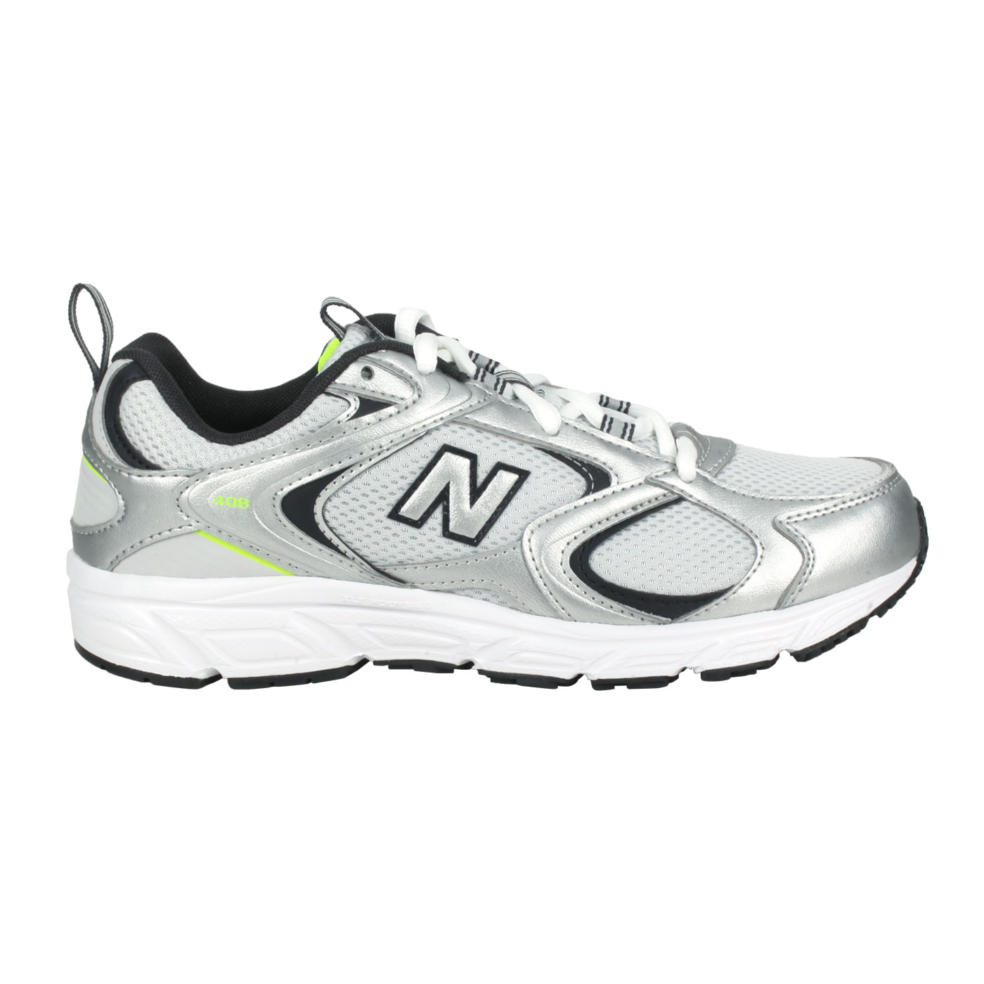 NEW BALANCE 女款復古運動鞋 ML408C - 銀黑綠
