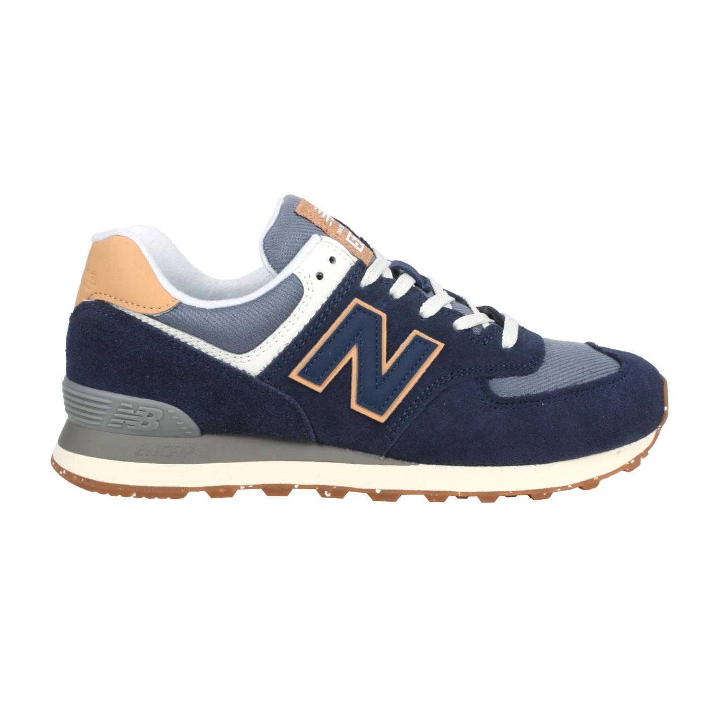 NEW BALANCE 男款復古休閒運動鞋 ML574AB2 - 丈青白棕
