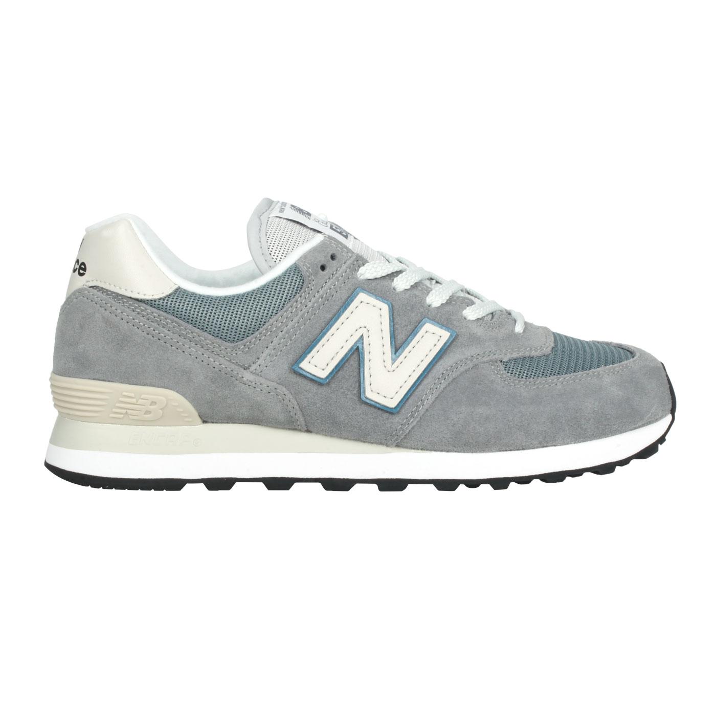 NEW BALANCE 男款運動休閒鞋 ML574BA2 - 灰藍