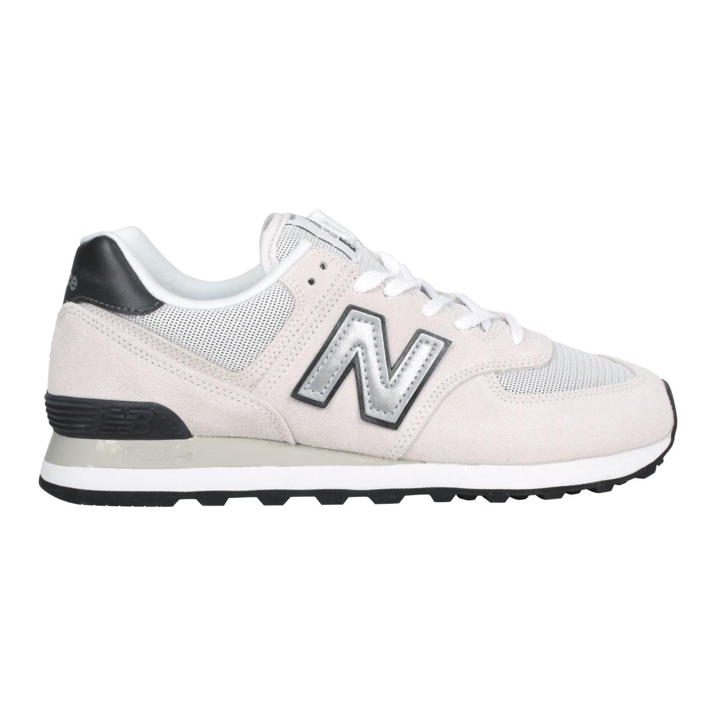 NEW BALANCE 男款運動休閒鞋 ML574BH2 - 白灰黑