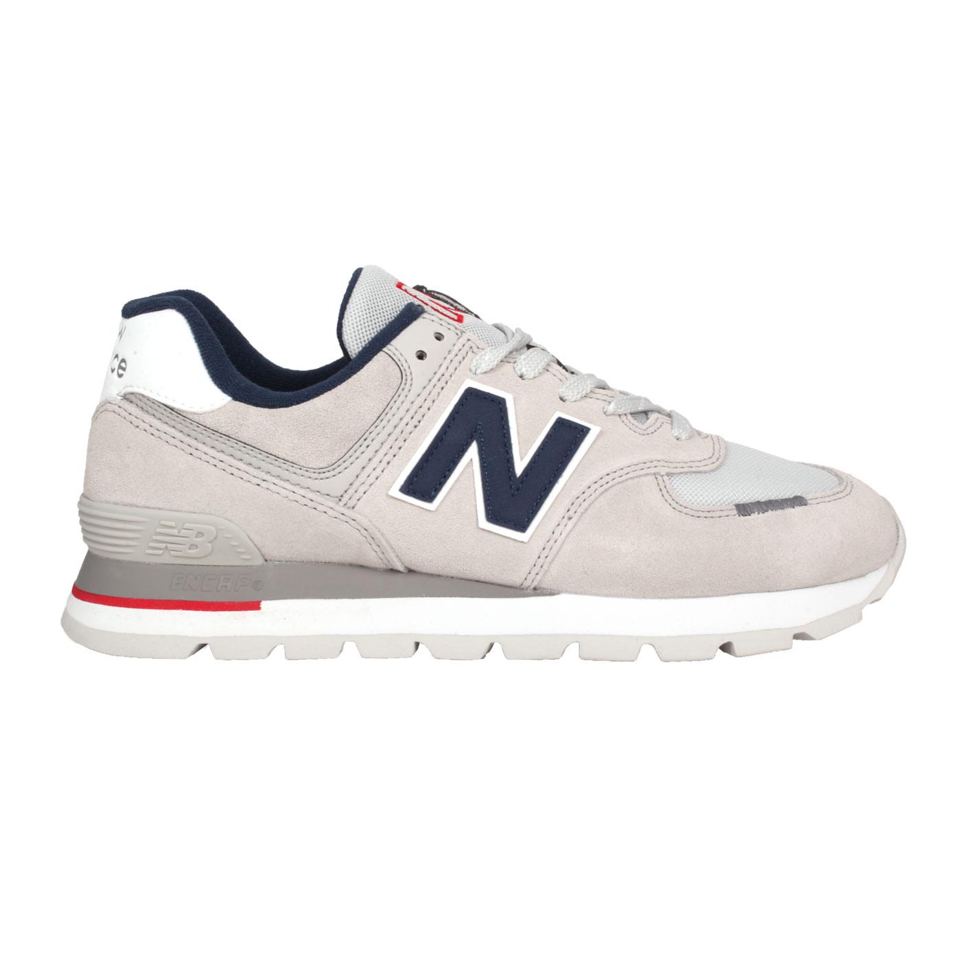 NEW BALANCE 男款復古運動鞋 ML574DTC - 淺灰丈青紅