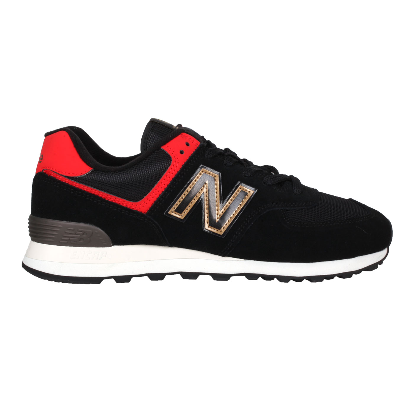 NEW BALANCE 男款休閒鞋 ML574OX3 - 黑棕紅