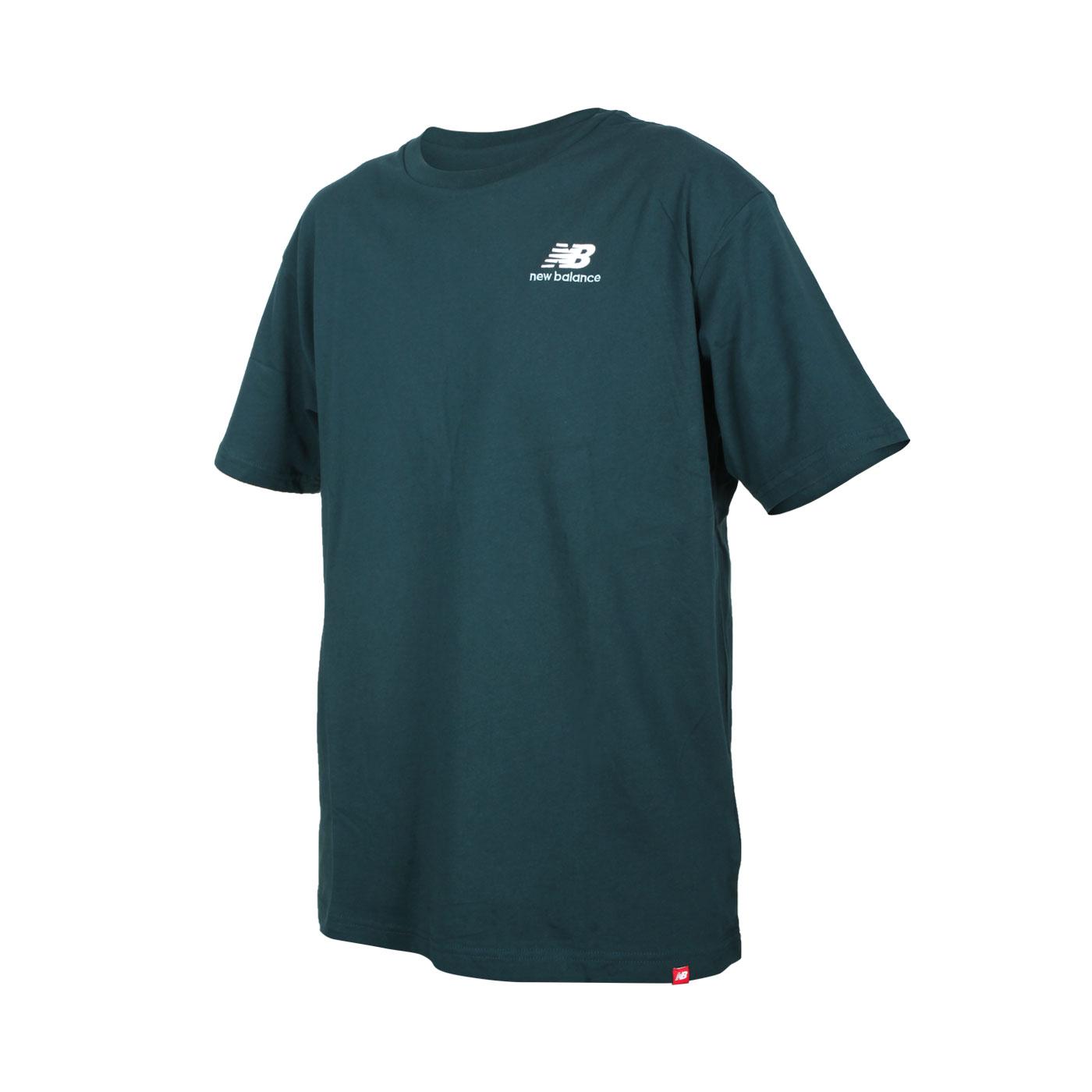 NEW BALANCE 男款短袖T恤 MT11592TKK - 鴨綠白
