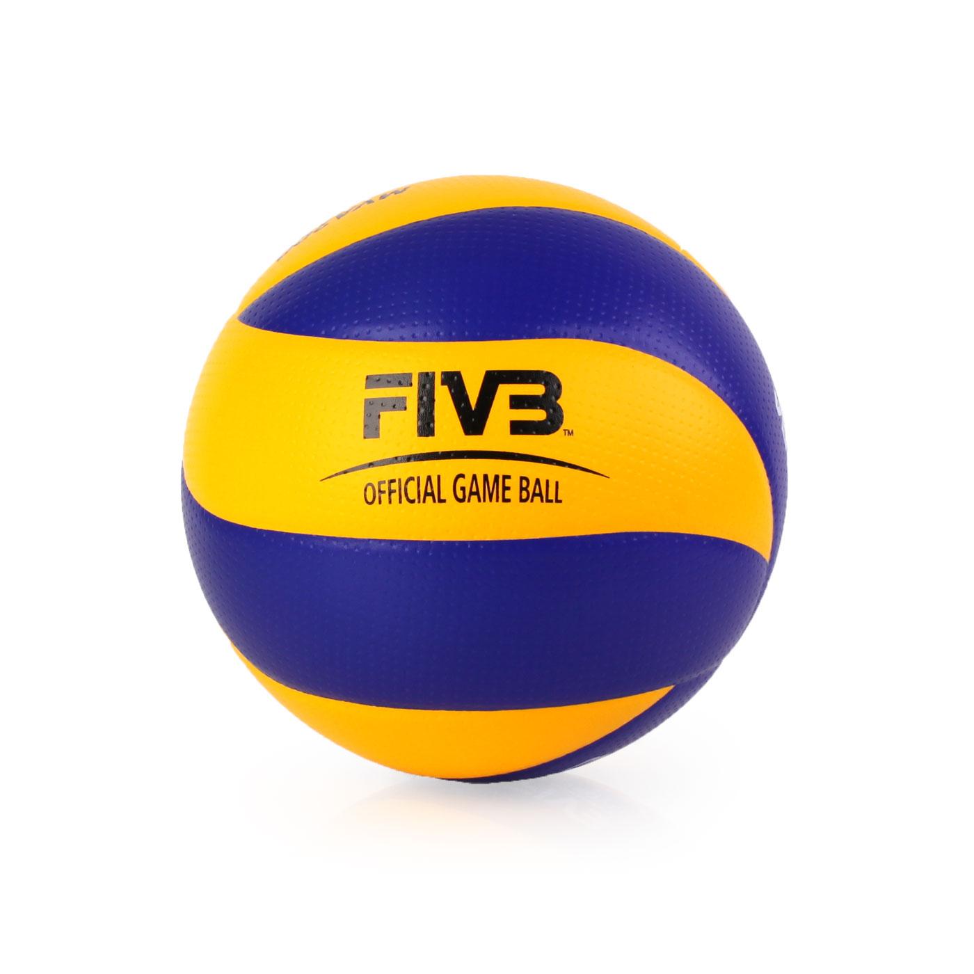 MIKASA 超纖皮製比賽級排球 #5 MVA200 - 藍黃