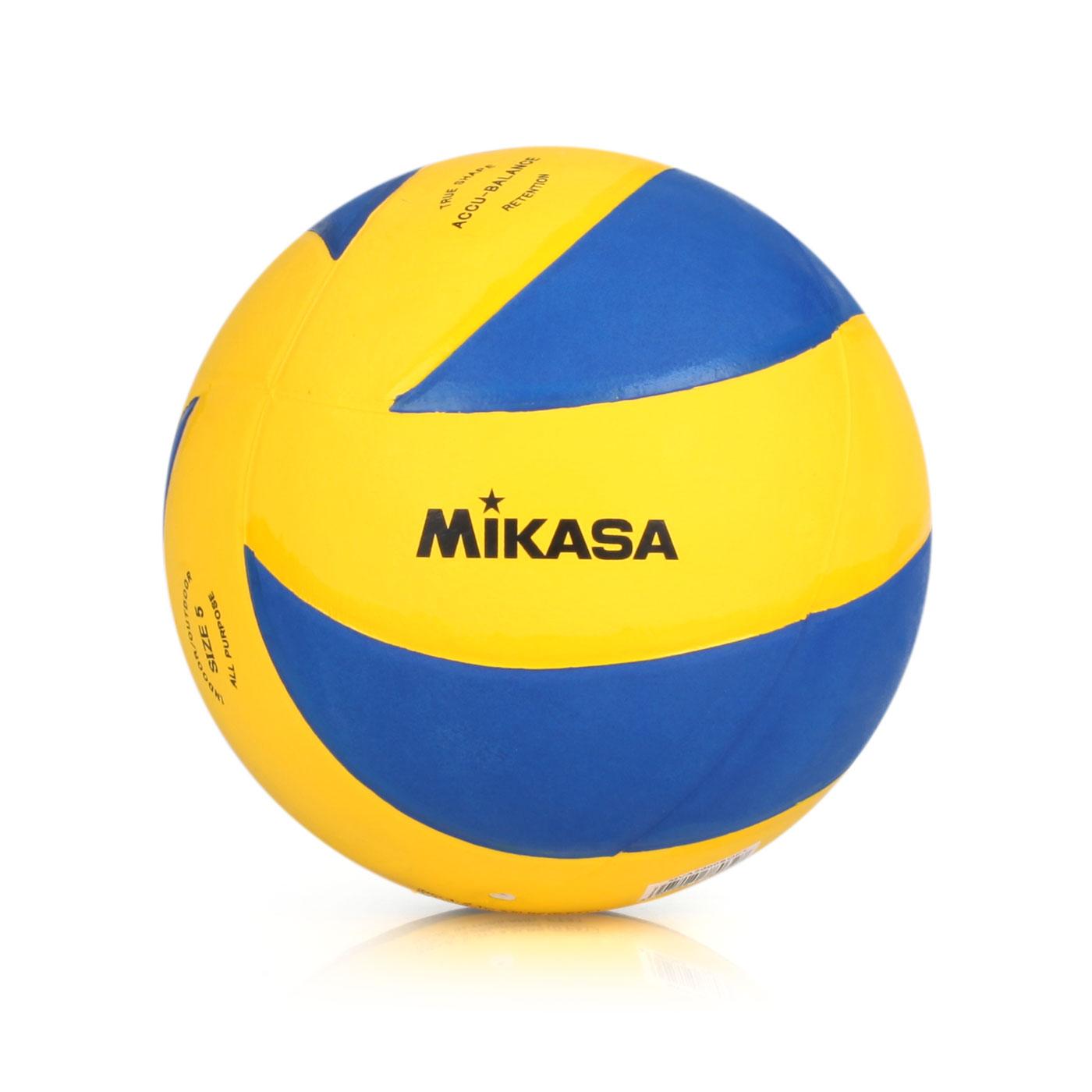 MIKASA 旋風型軟橡膠排球 MVA2000SOFT - 藍黃
