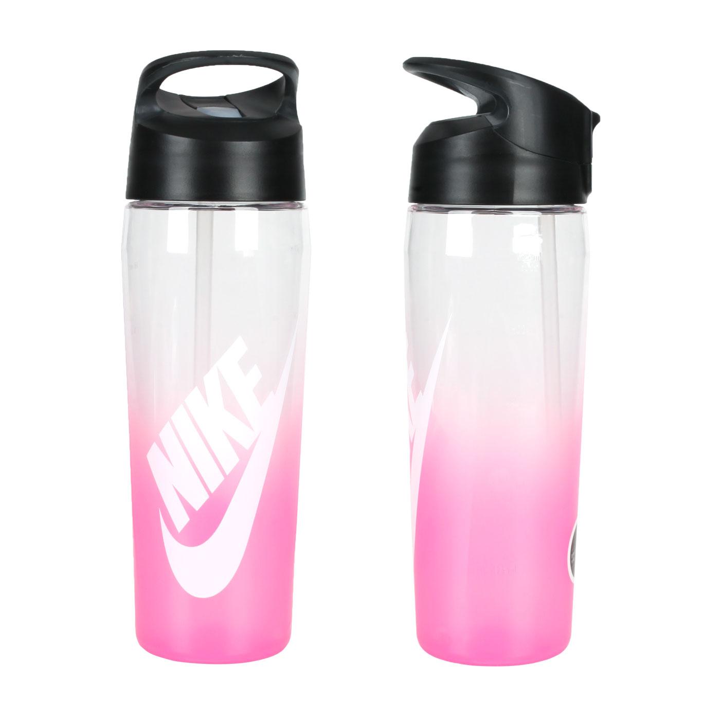 NIKE 24OZ 吸管水壺 N000003491624 - 透明亮粉白