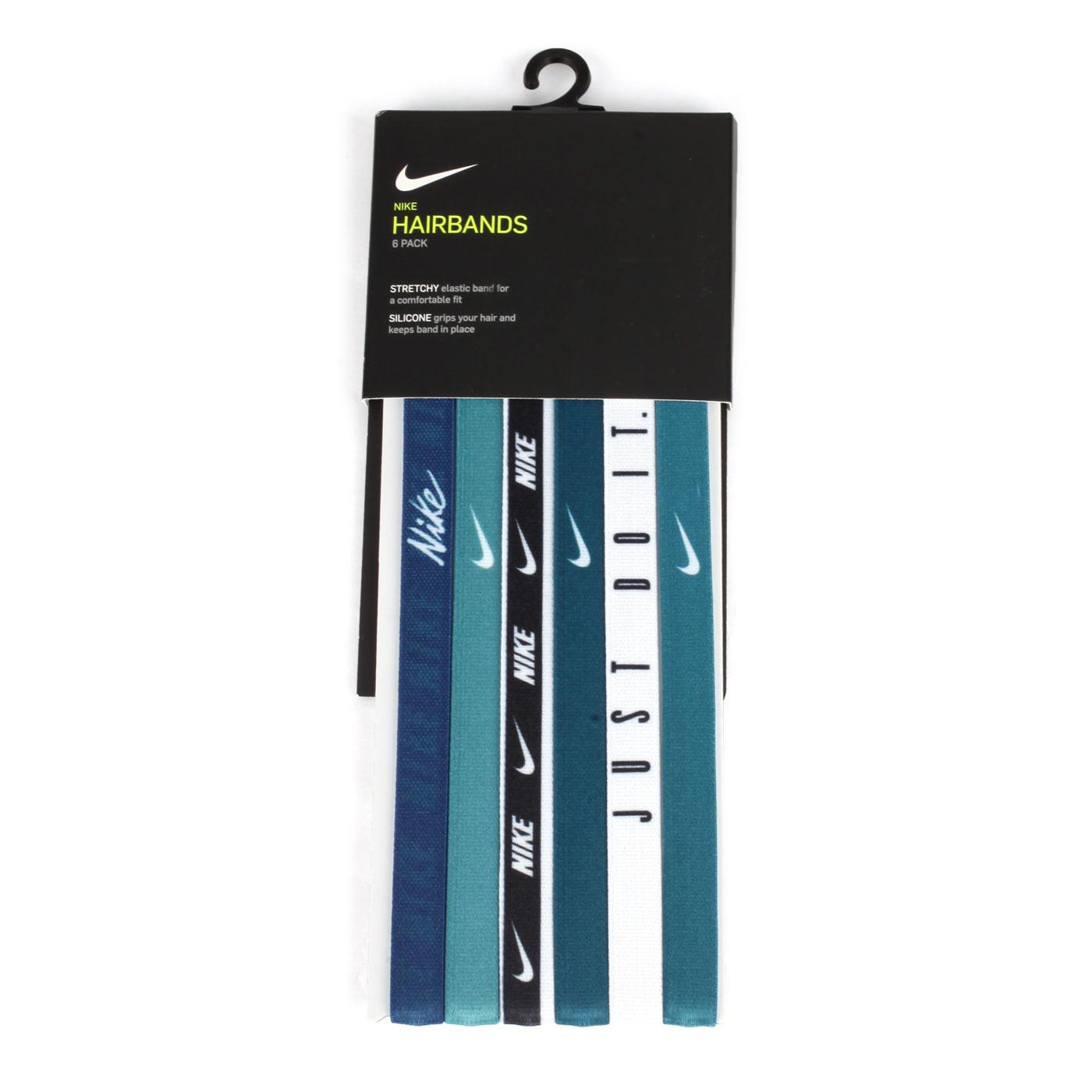 NIKE 印花髮帶(6條入) N0002545430OS - 綠白黑丈青