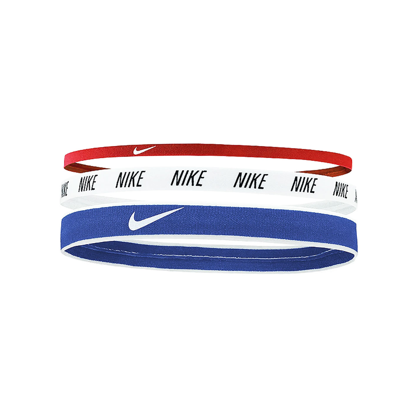NIKE 混合寬度髮帶(3條入) N0002548905OS - 藍白紅黑