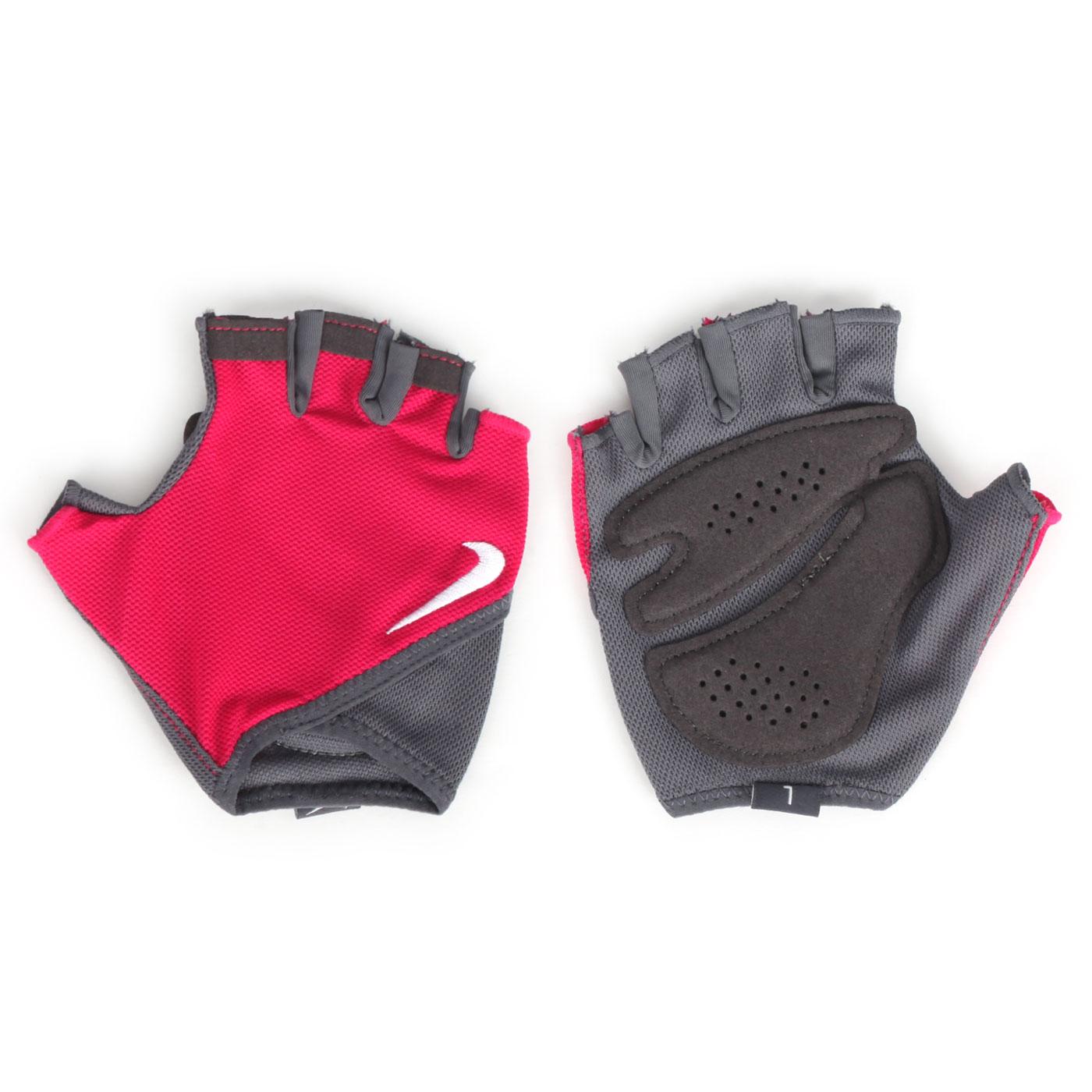 NIKE 女款基礎訓練手套 N0002557010LG - 桃紅灰白