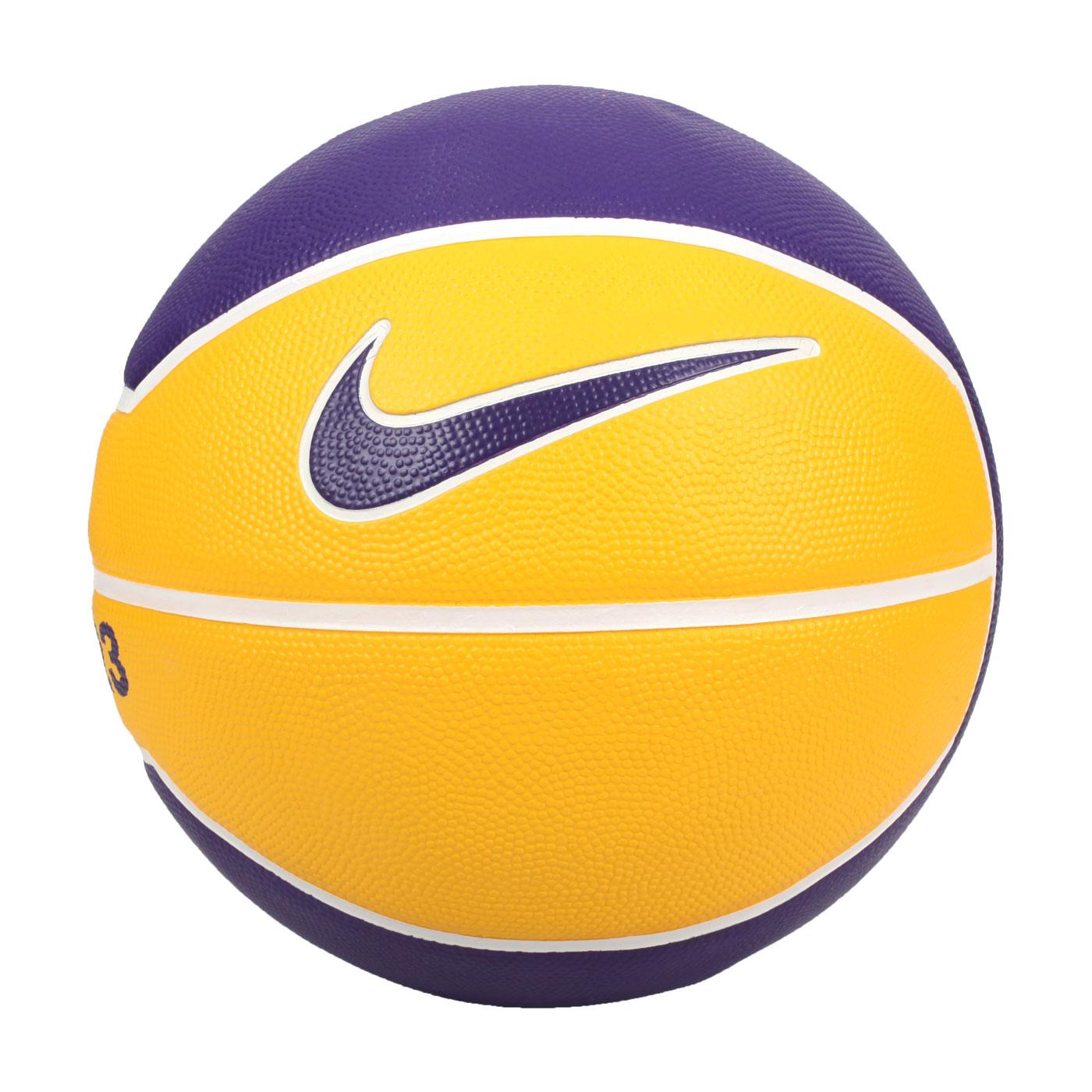 NIKE LEBRON PLAYGROUND 4P 7號籃球 N000278472807 - 黃紫