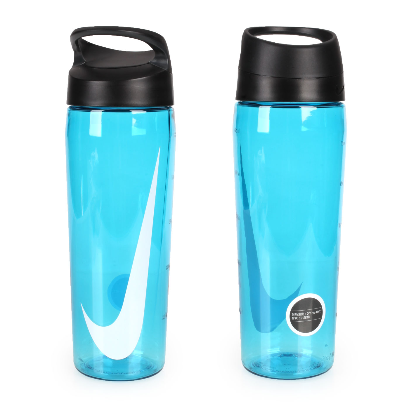 NIKE 旋蓋式水壺 24OZ N000320743024 - 透明藍白