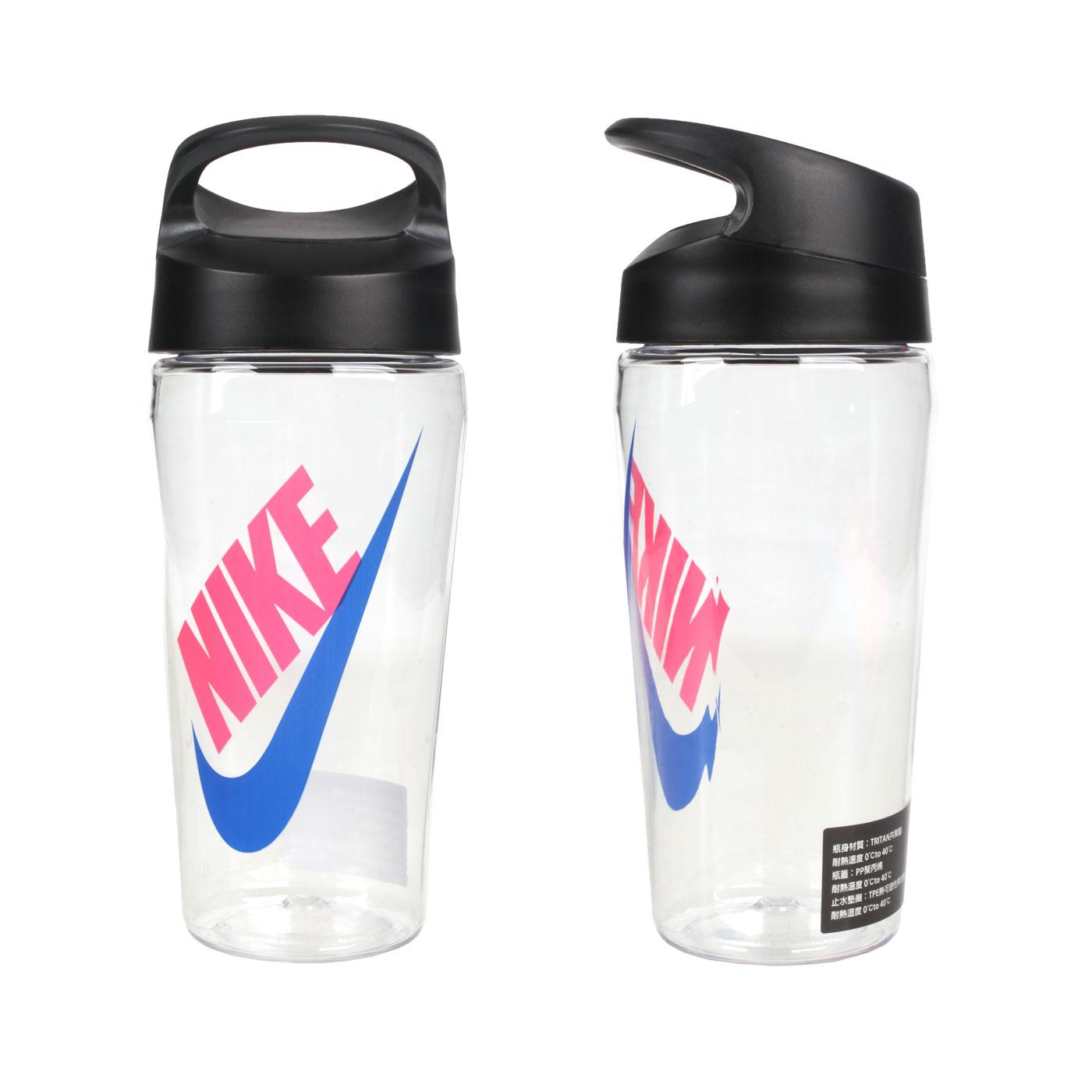 NIKE 16OZ 旋蓋式水壺 N000352393816 - 透明藍粉紅
