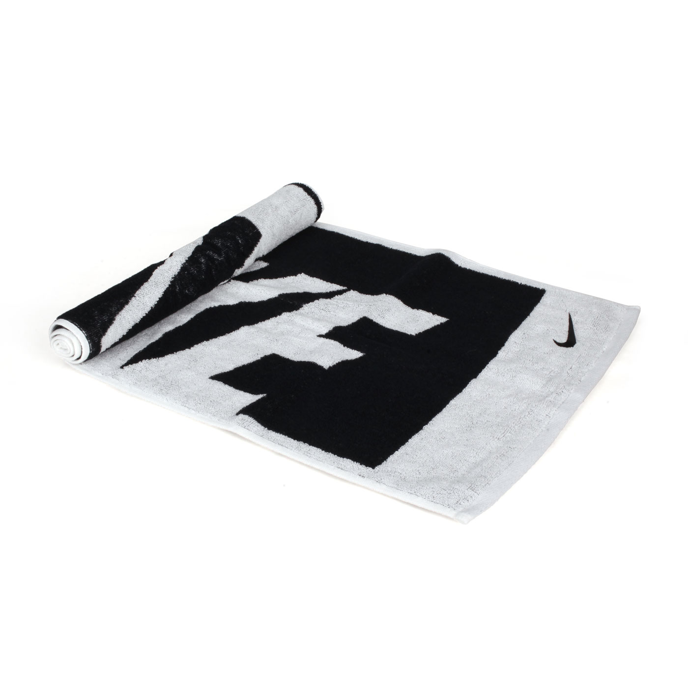 NIKE JACQUARD長型毛巾(中) N1001539036MD - 黑白