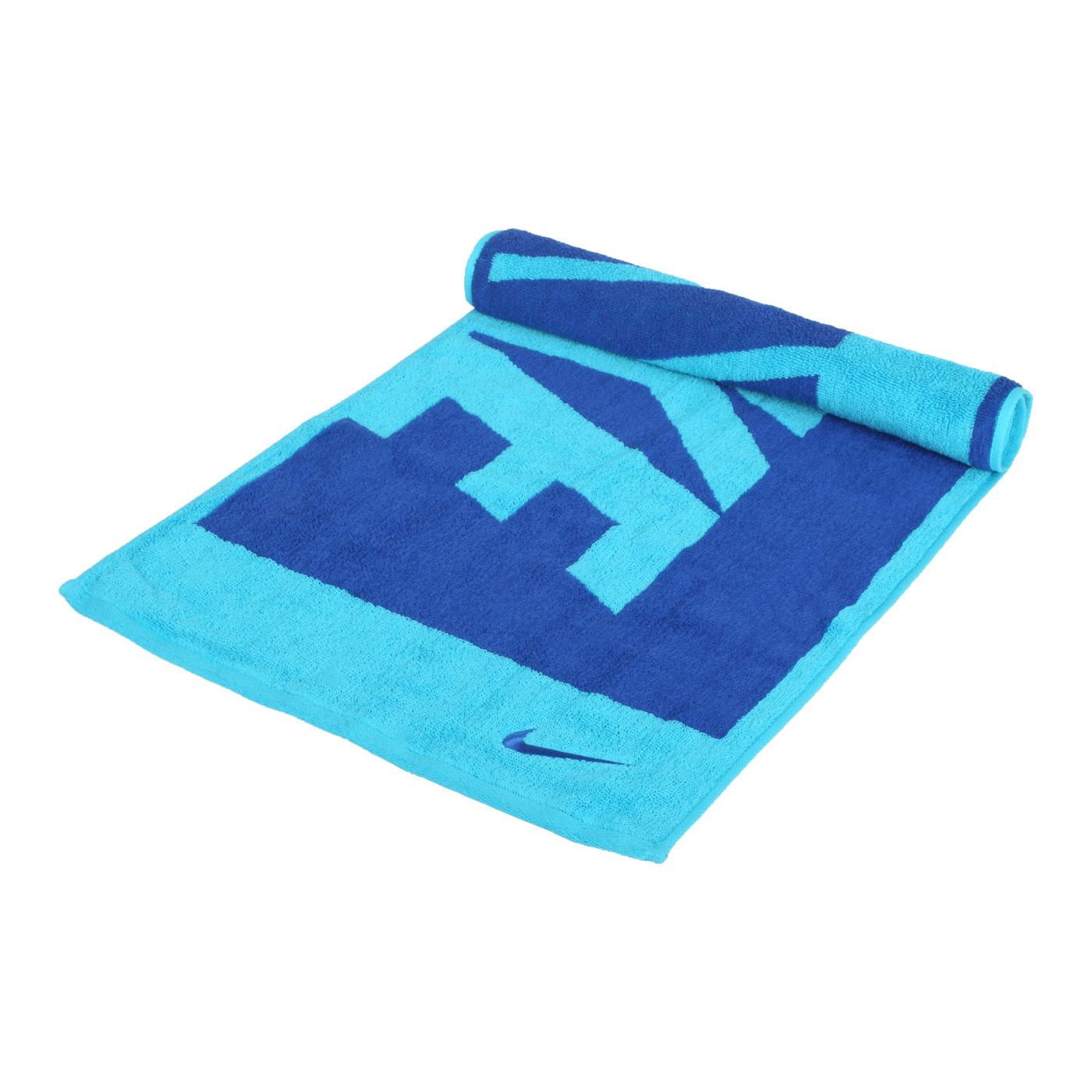 NIKE 長形毛巾(中) N1001539438MD - 藍水藍