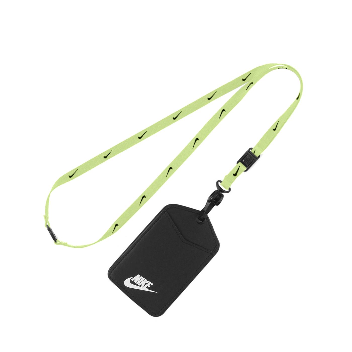 NIKE 識別證吊帶 N1002322732NS - 螢光綠黑