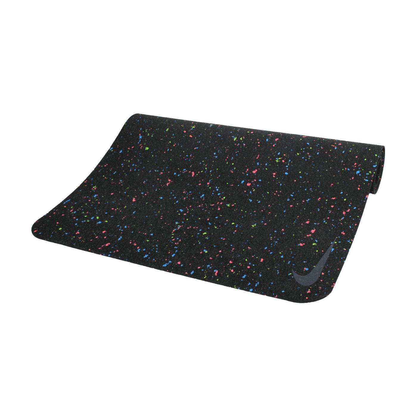 NIKE 4MM 瑜珈墊 172CM 45D N1002410997OS - 黑藍綠粉