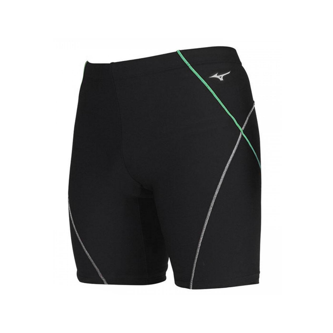 MIZUNO 男款FITNESS五分泳褲  SWIMN2JB011593 - 黑綠白