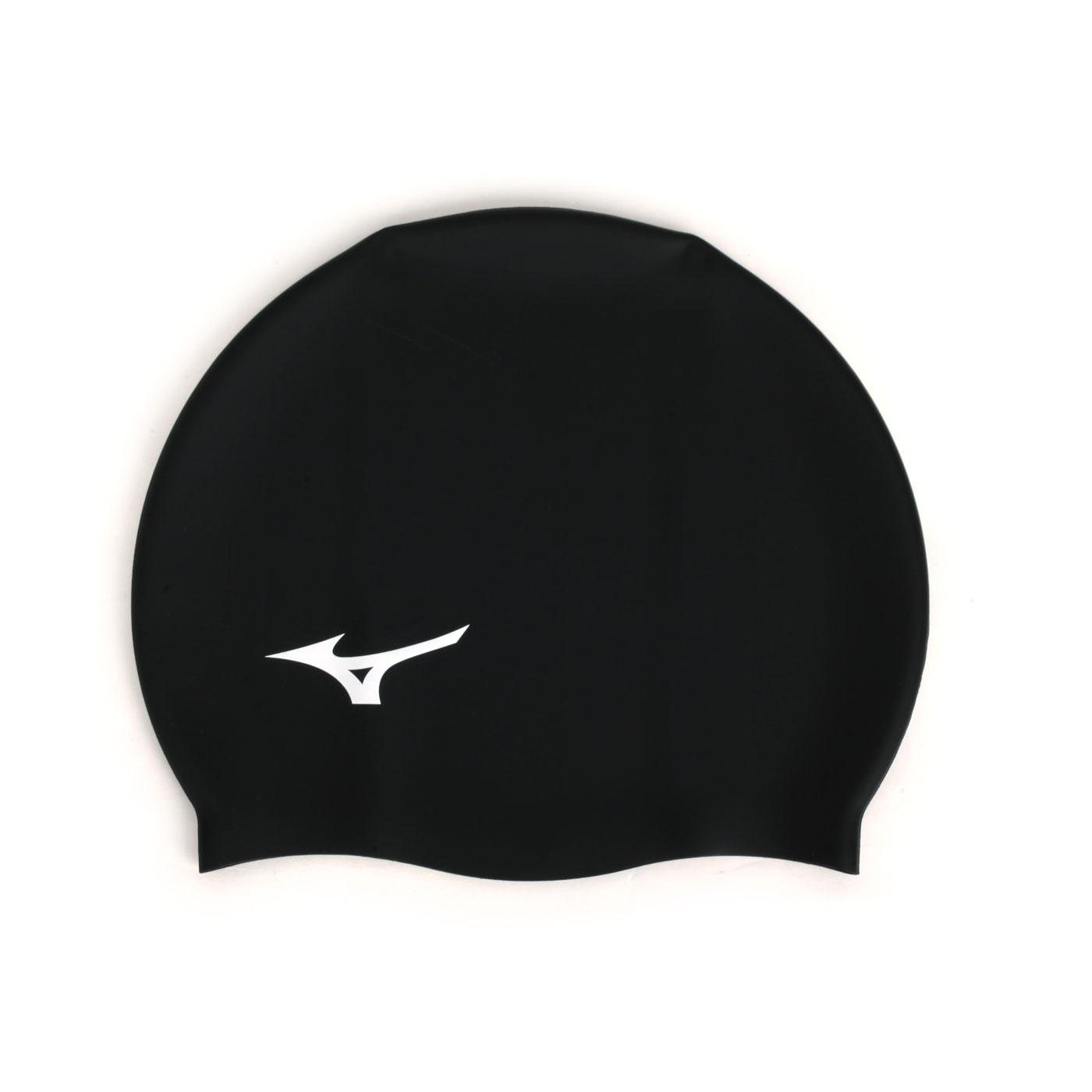 MIZUNO 矽膠泳帽  SWIMN2JW914000-01 - 黑白