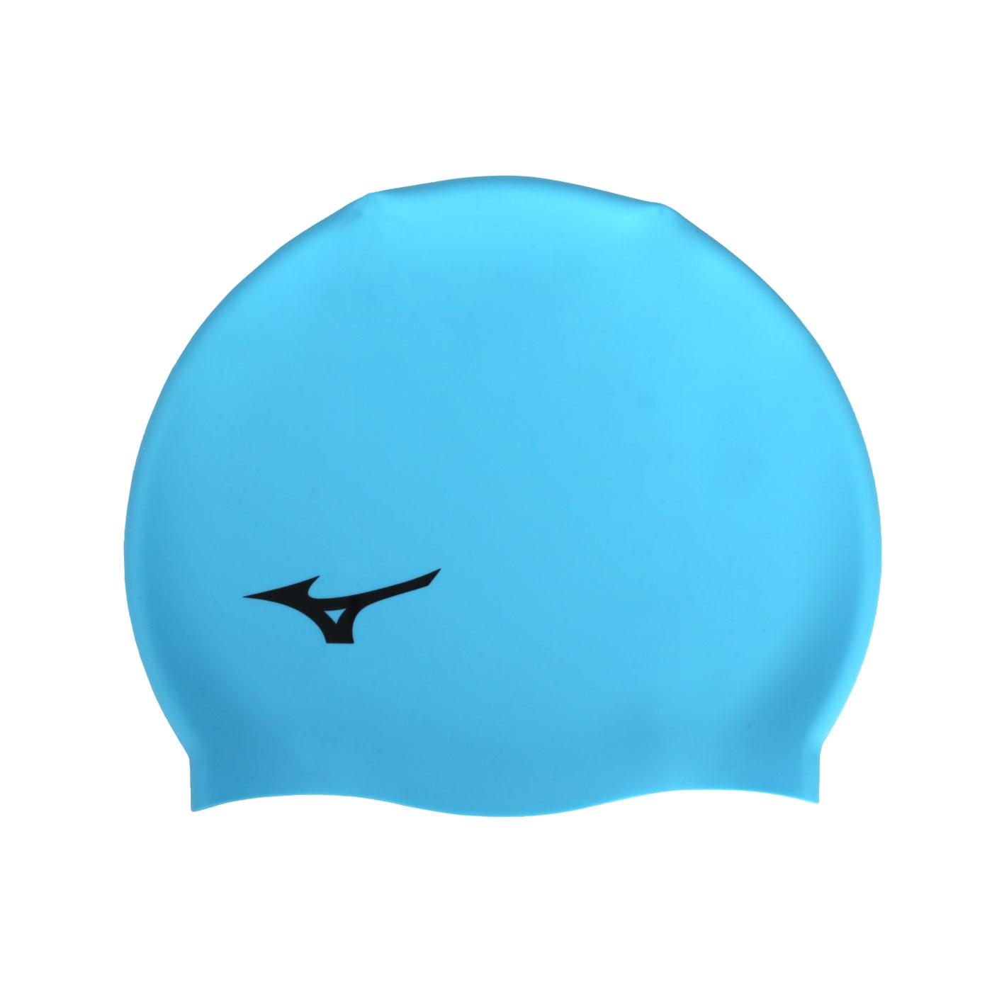 MIZUNO 矽膠泳帽  SWIMN2JW914000-24 - 亮藍黑