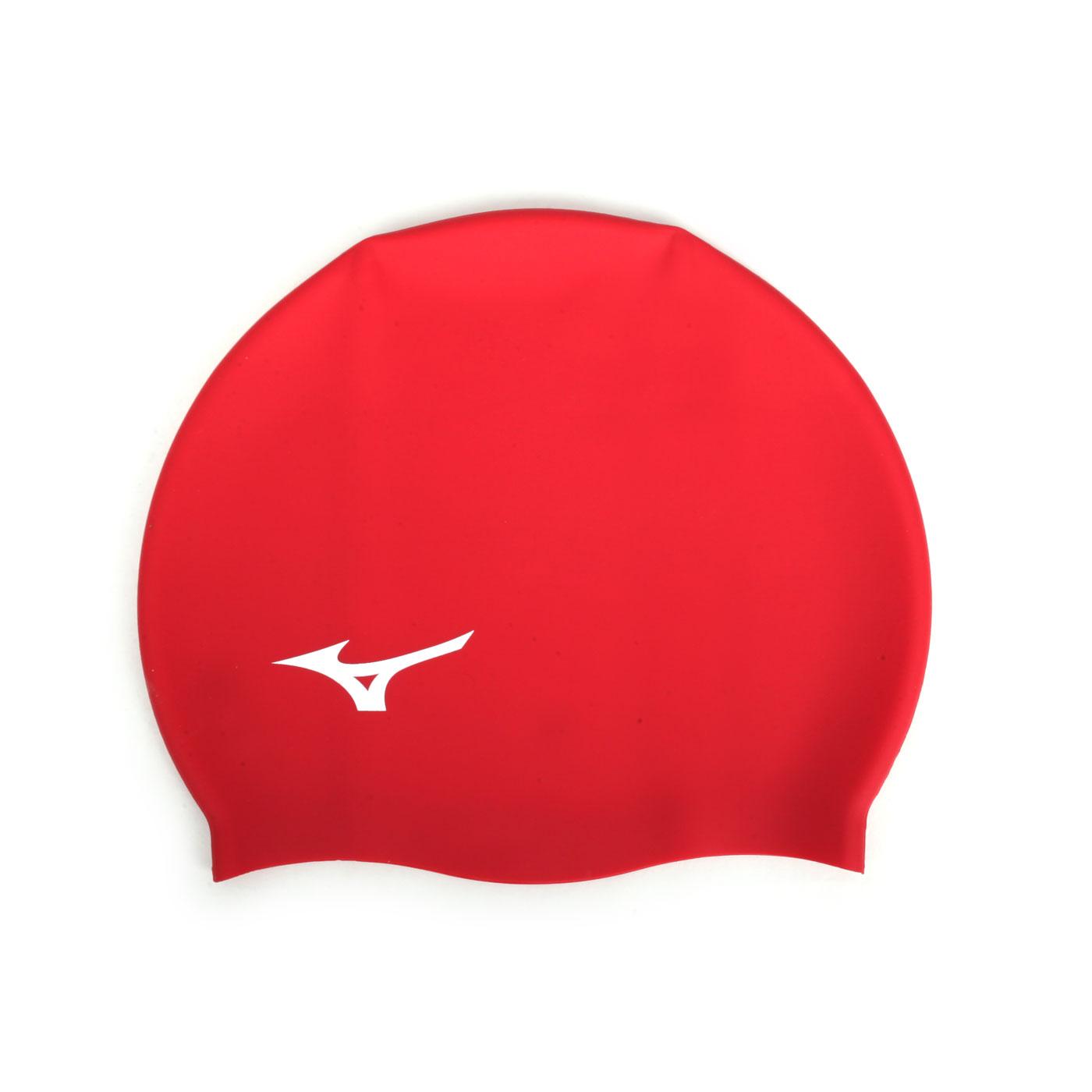 MIZUNO 矽膠泳帽  SWIMN2JW914000-01 - 紅白