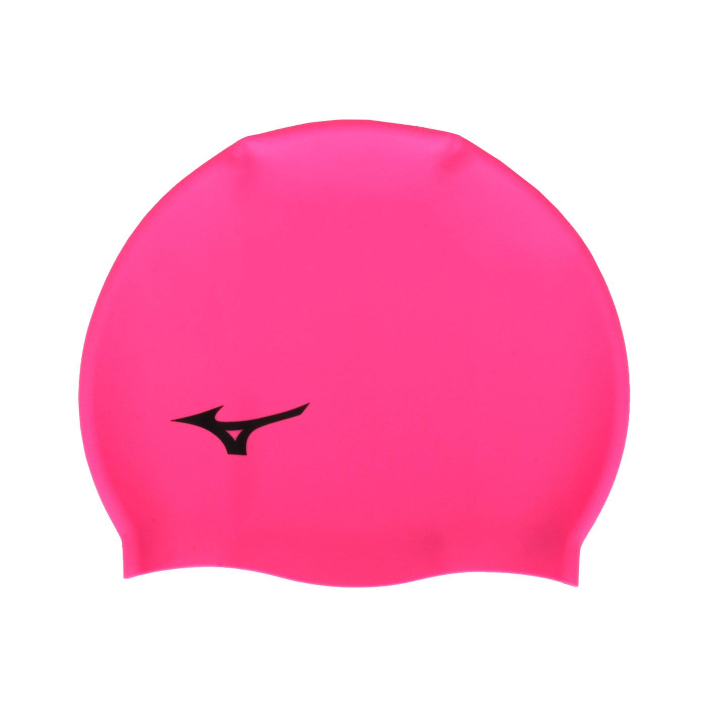 MIZUNO 矽膠泳帽  SWIMN2JW914000-64 - 桃紅黑