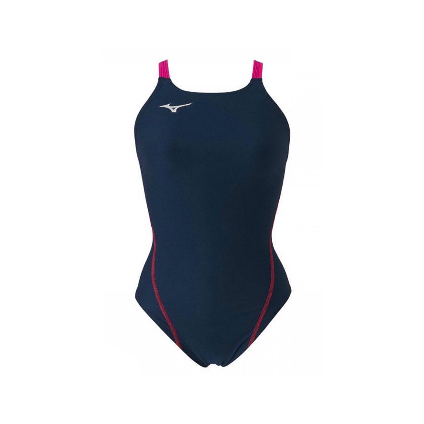 MIZUNO 女款連身泳衣  SWIMN2MA826187 - 丈青桃紅銀